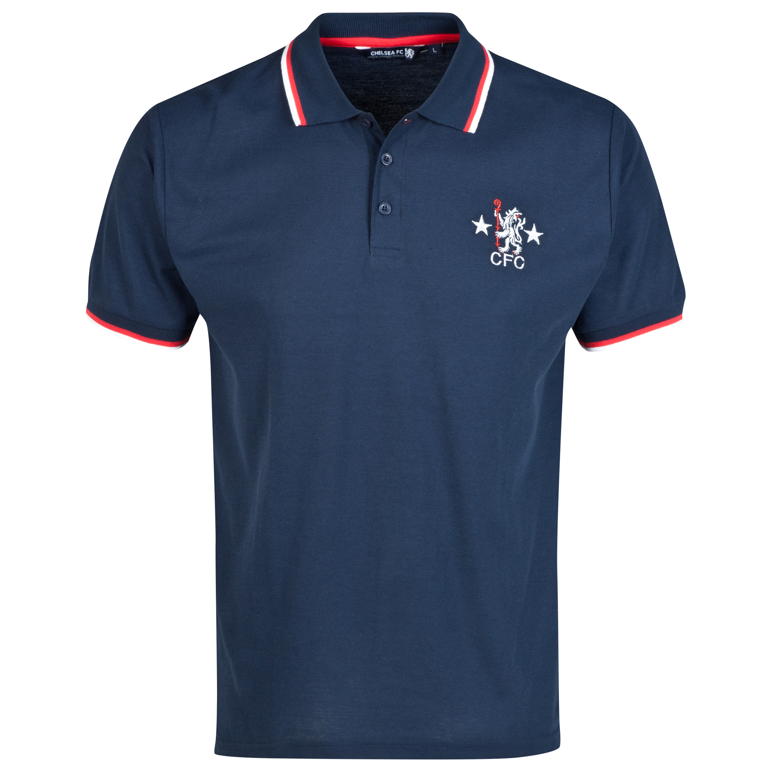 Chelsea Retro Polo Shirt - Navy - Mens