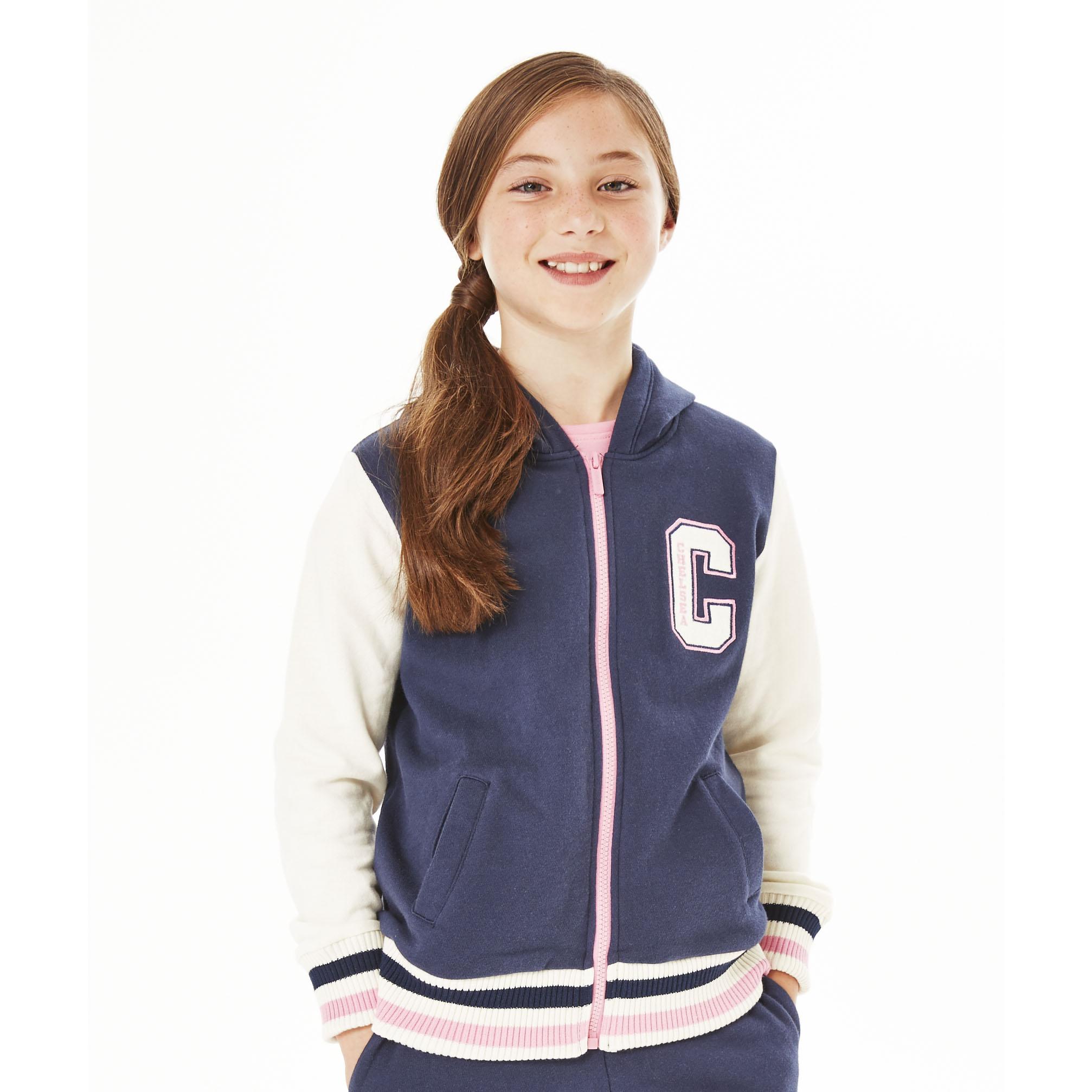 Chelsea Baseball Hoodie - Navy - Girls