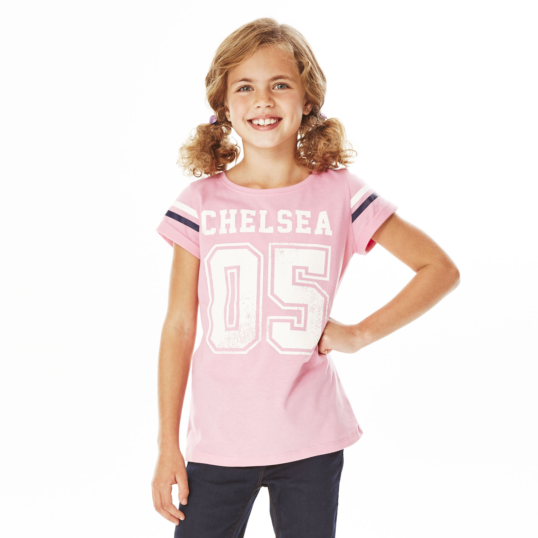 Chelsea Distressed T-Shirt - Sachet Pink - Girls