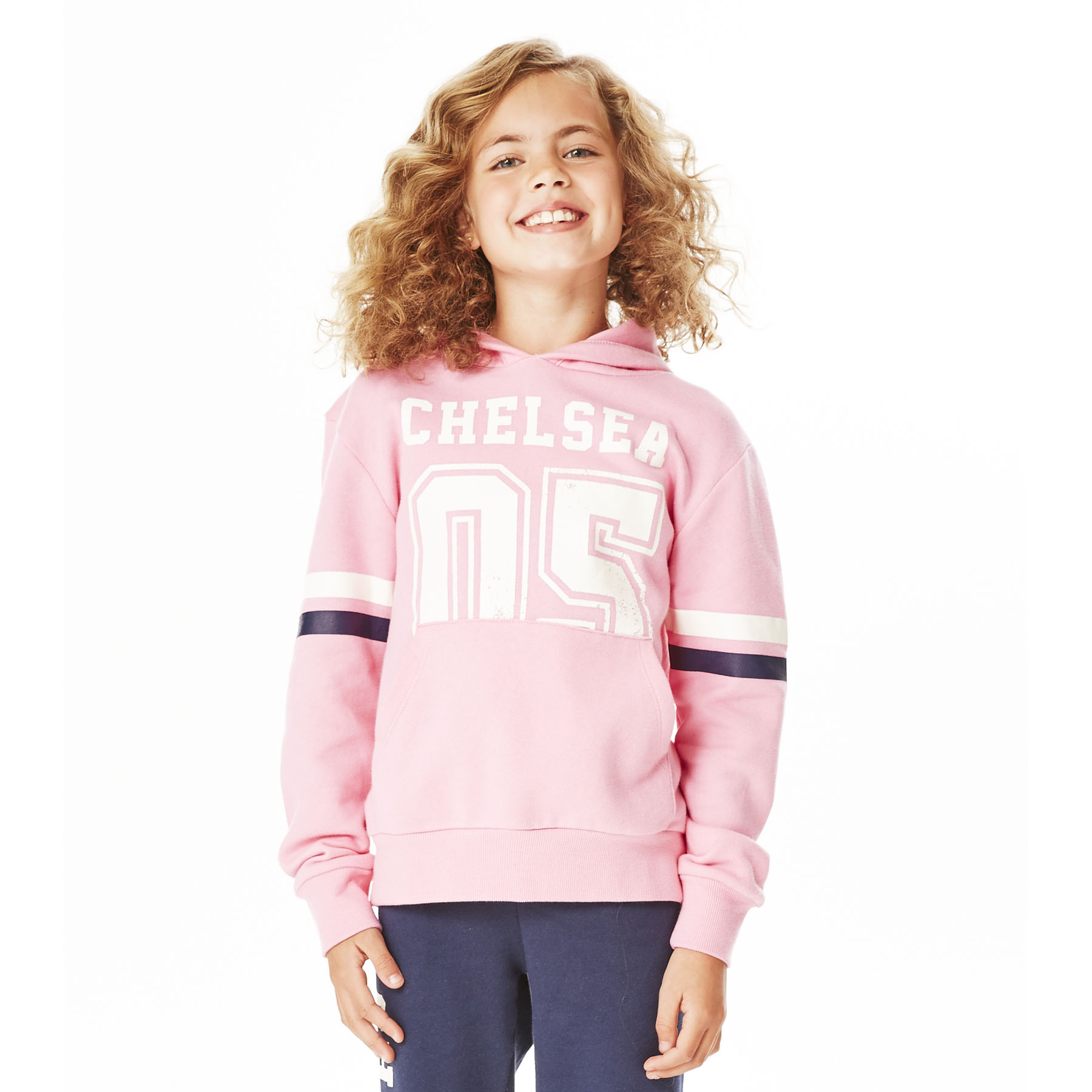 Chelsea Distressed Hoodie - Sachet Pink - Girls