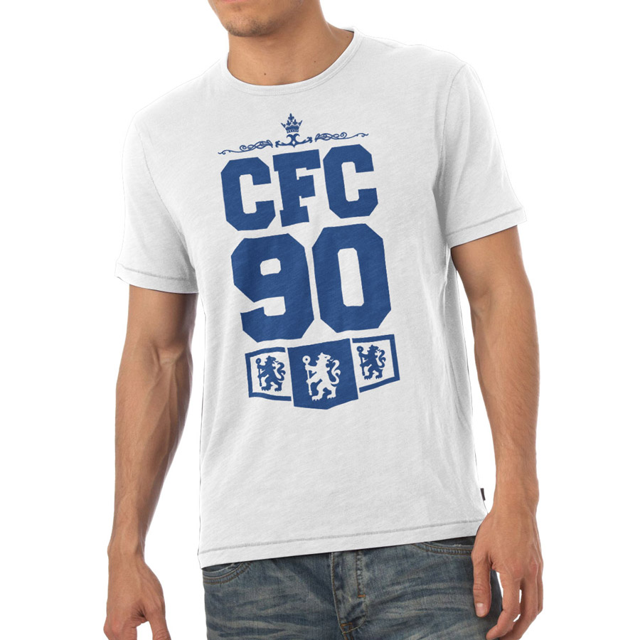 Chelsea Personalised CFC T-Shirt White