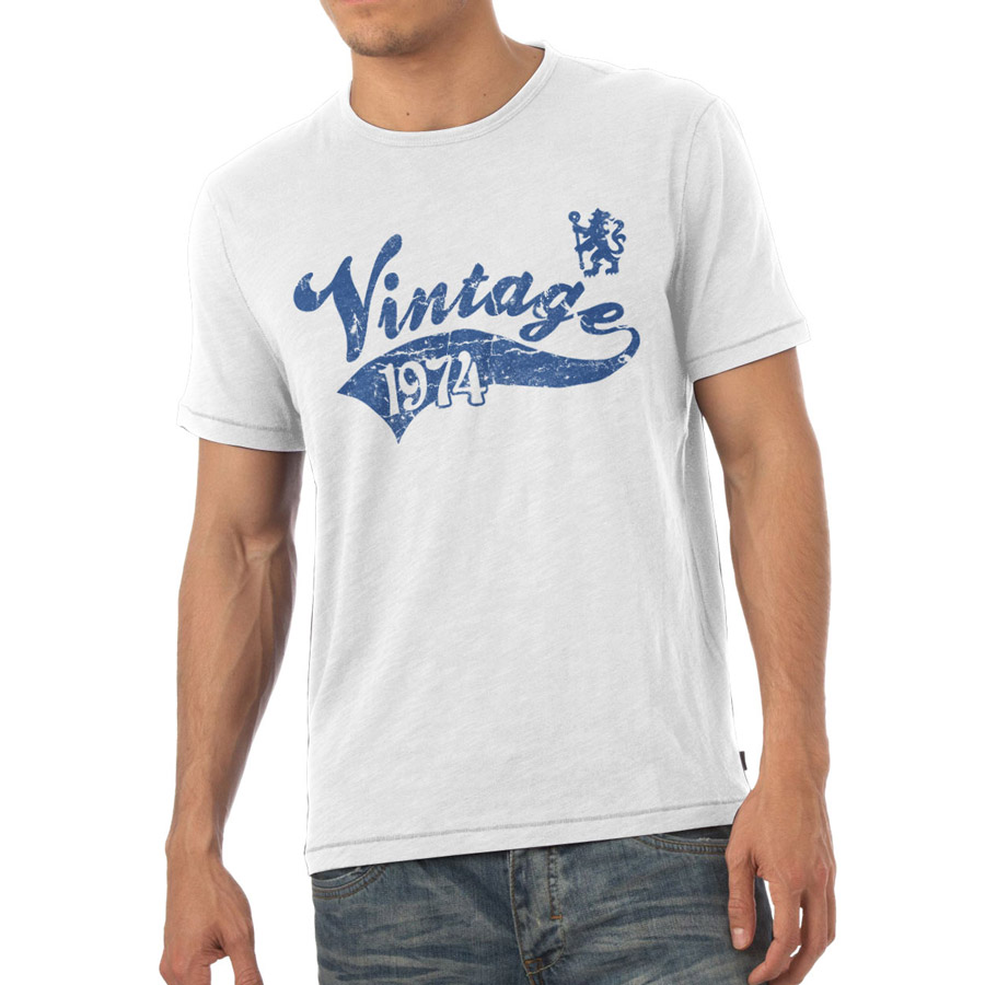Chelsea Personalised Vintage T-Shirt White