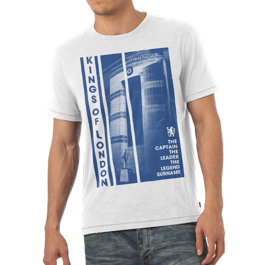 Chelsea Personalised Kings of London T-Shirt White