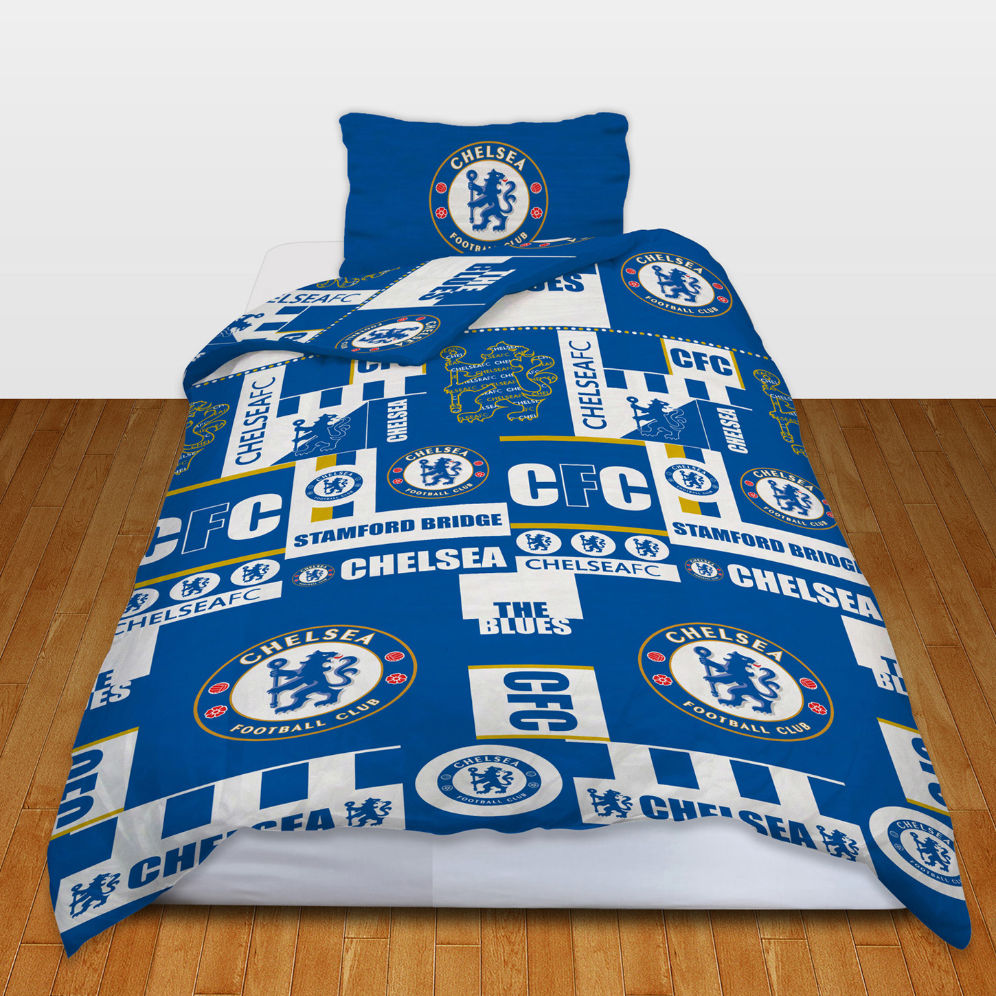 Chelsea Tag Duvet Cover Set - Single. Rotary Screen Print. 52% Polyester. 48% Cotton. Contains: 1 x Duvet cover 1 x Pillow Case Dimensions: Duvet Cover - approx. 135 x 200cm Pillow Case - approx. 50 x 75cm