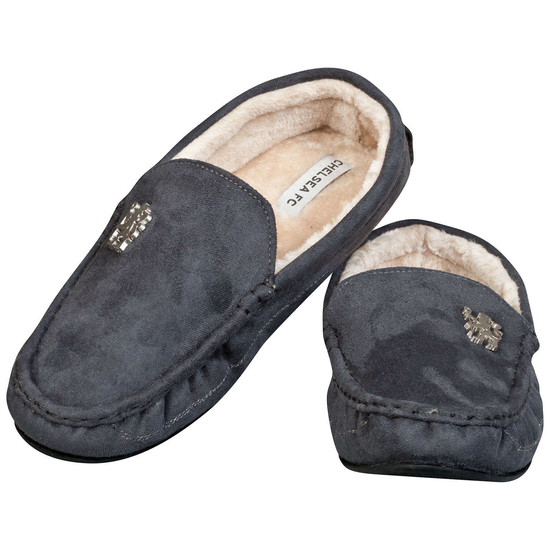 Chelsea Moccasin Slippers - Charcoal - Mens