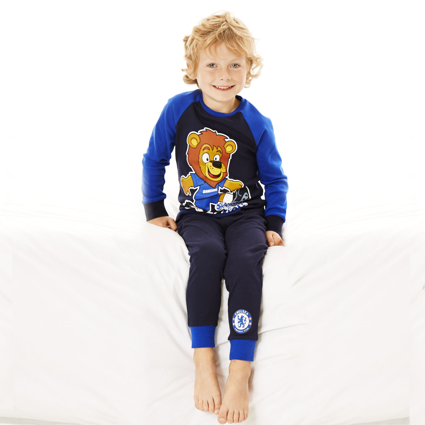Chelsea Stamford The Lion Snuggle Fit Pyjamas - Navy - Infant Boys