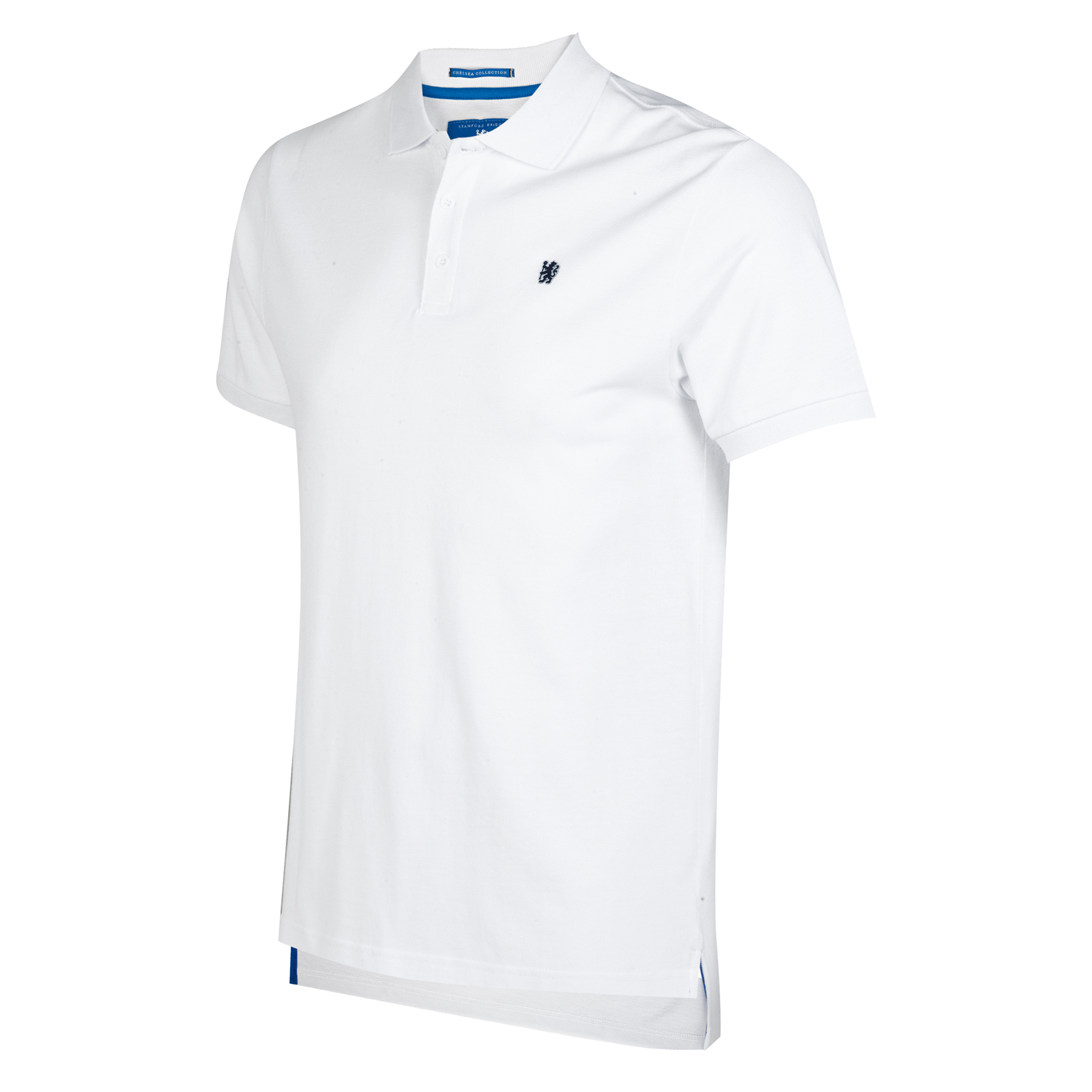 Chelsea Lion Polo Shirt - White - Mens   Woven lion badge. Woven back neck label. 3 x branded buttons. 100% Cotton Pique. Machine washable.