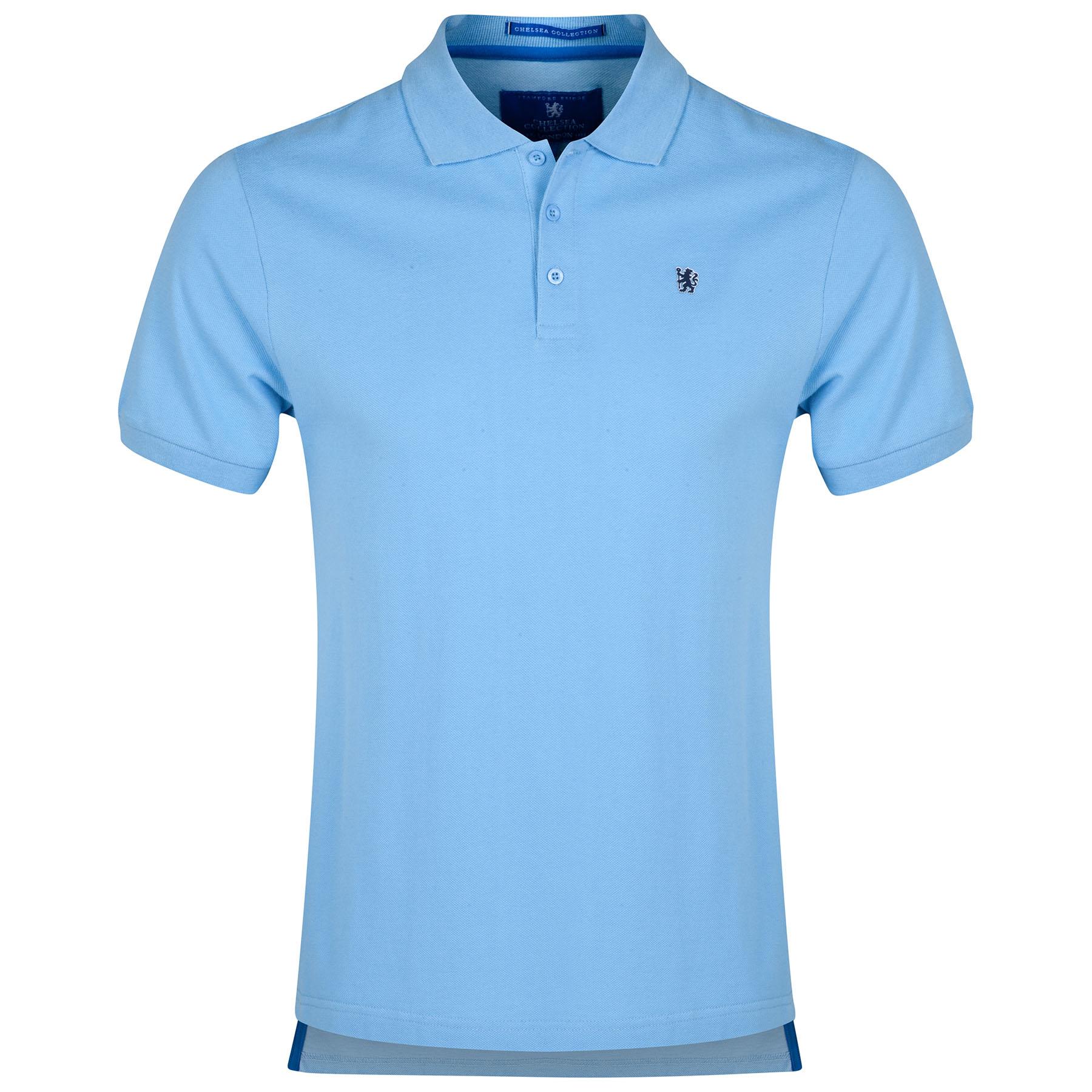Chelsea Lion Polo Shirt - Sky Blue - Mens