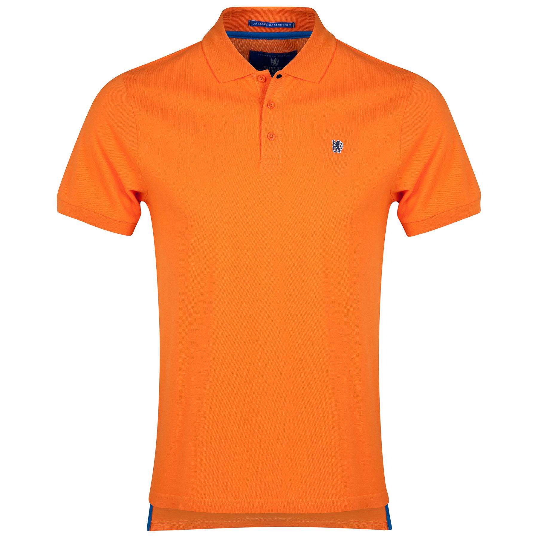 Chelsea Lion Polo Shirt - Orange - Mens