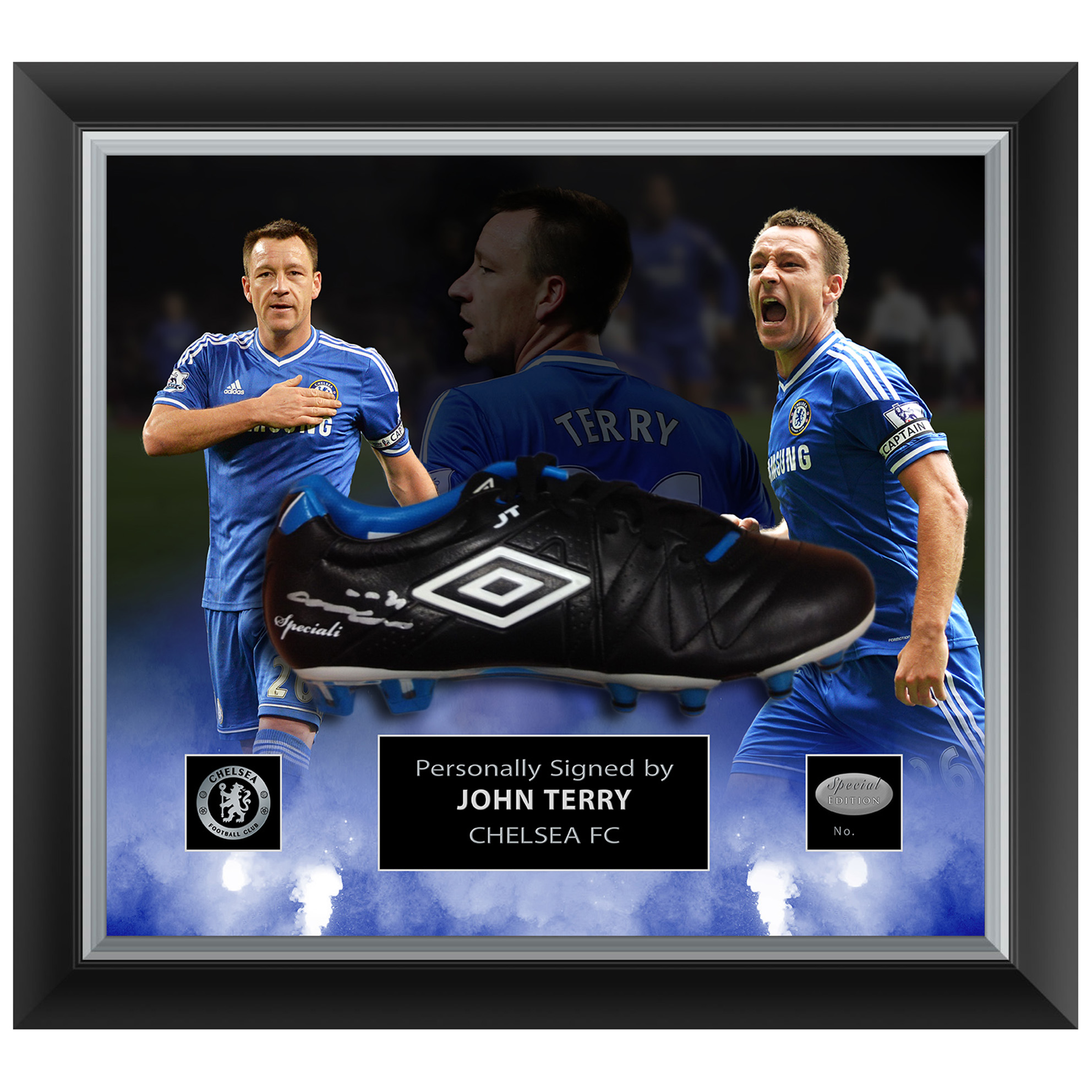 Chelsea John Terry Special Edition Hand Signed Boot - Framed