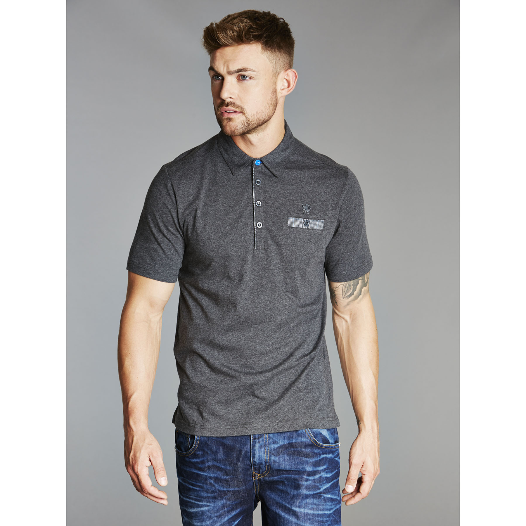 Chelsea Collection Pocket Polo Shirt - Charcoal - Mens