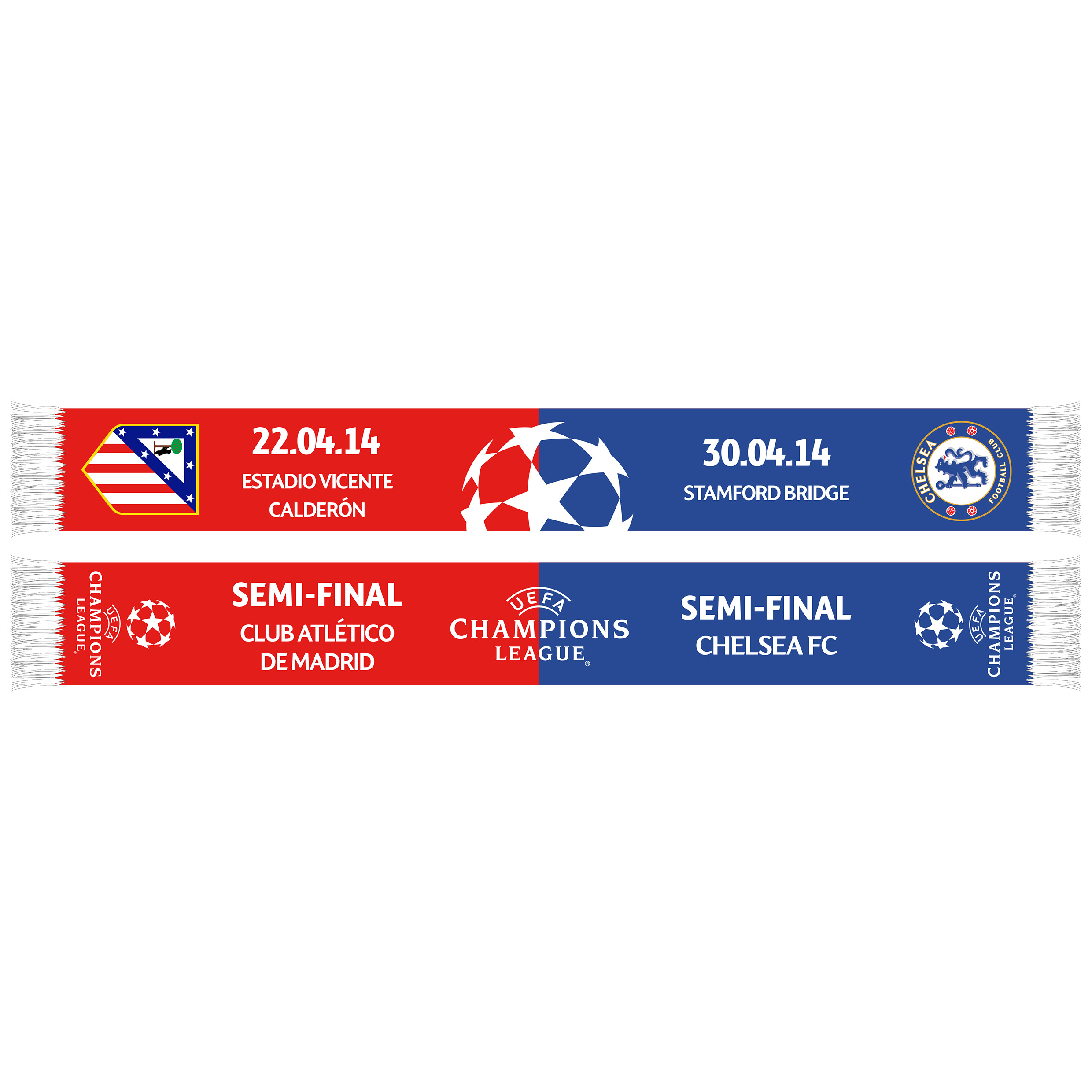 Chelsea Vs Atletico Madrid UCL Semi Final Friendship Scarf