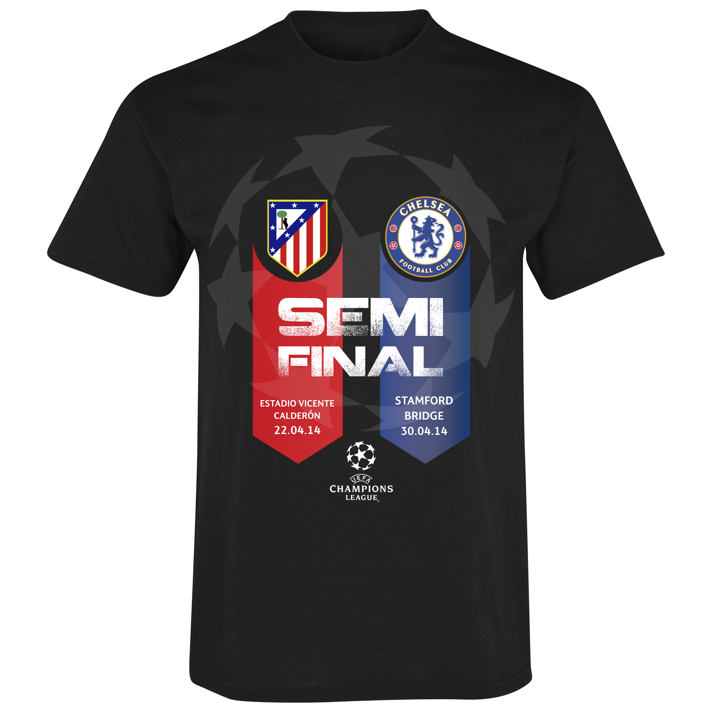Chelsea Vs Atletico Madrid UCL Semi Final Friendship T-Shirt Black