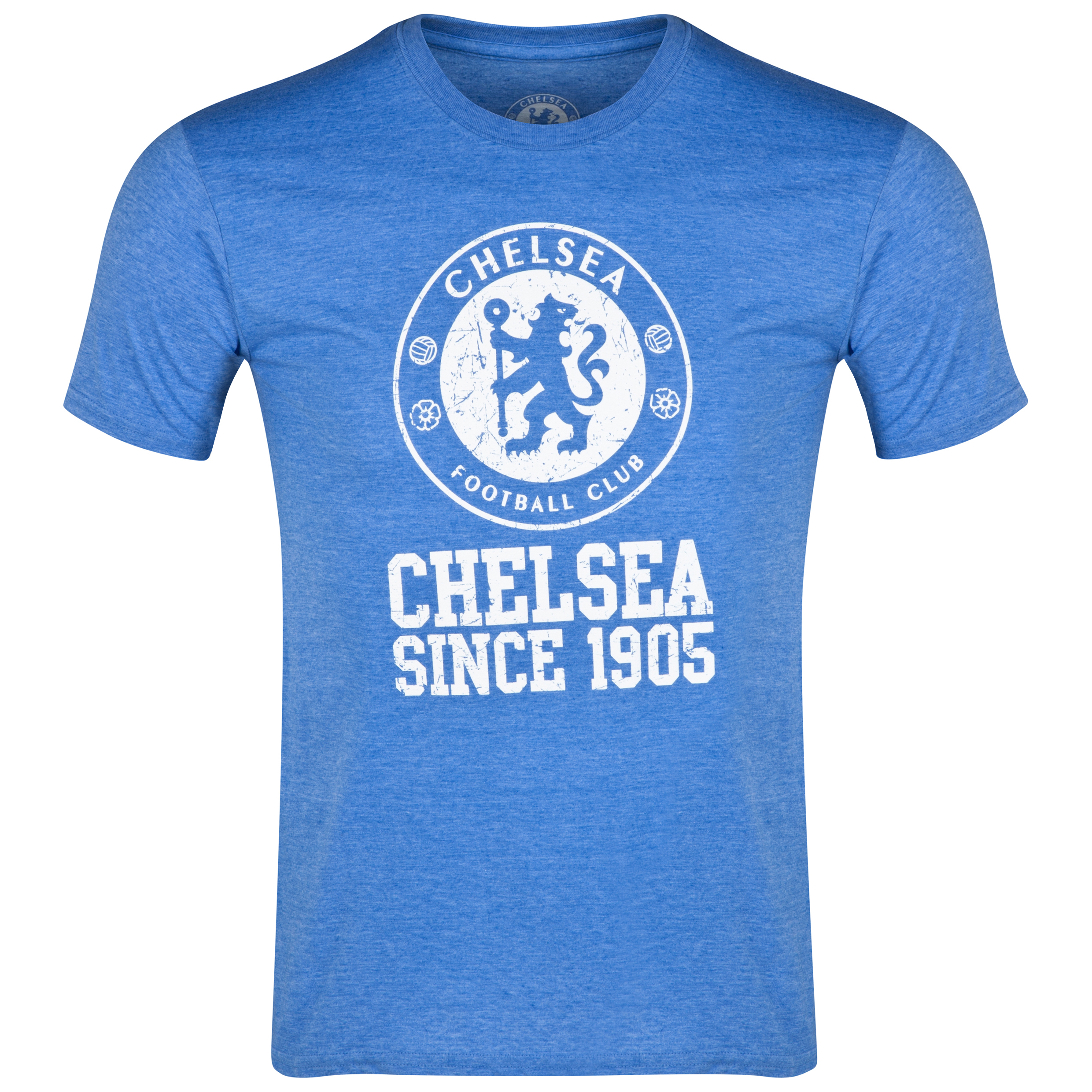 Chelsea Distressed Crest T-Shirt - Heather Royal - Mens