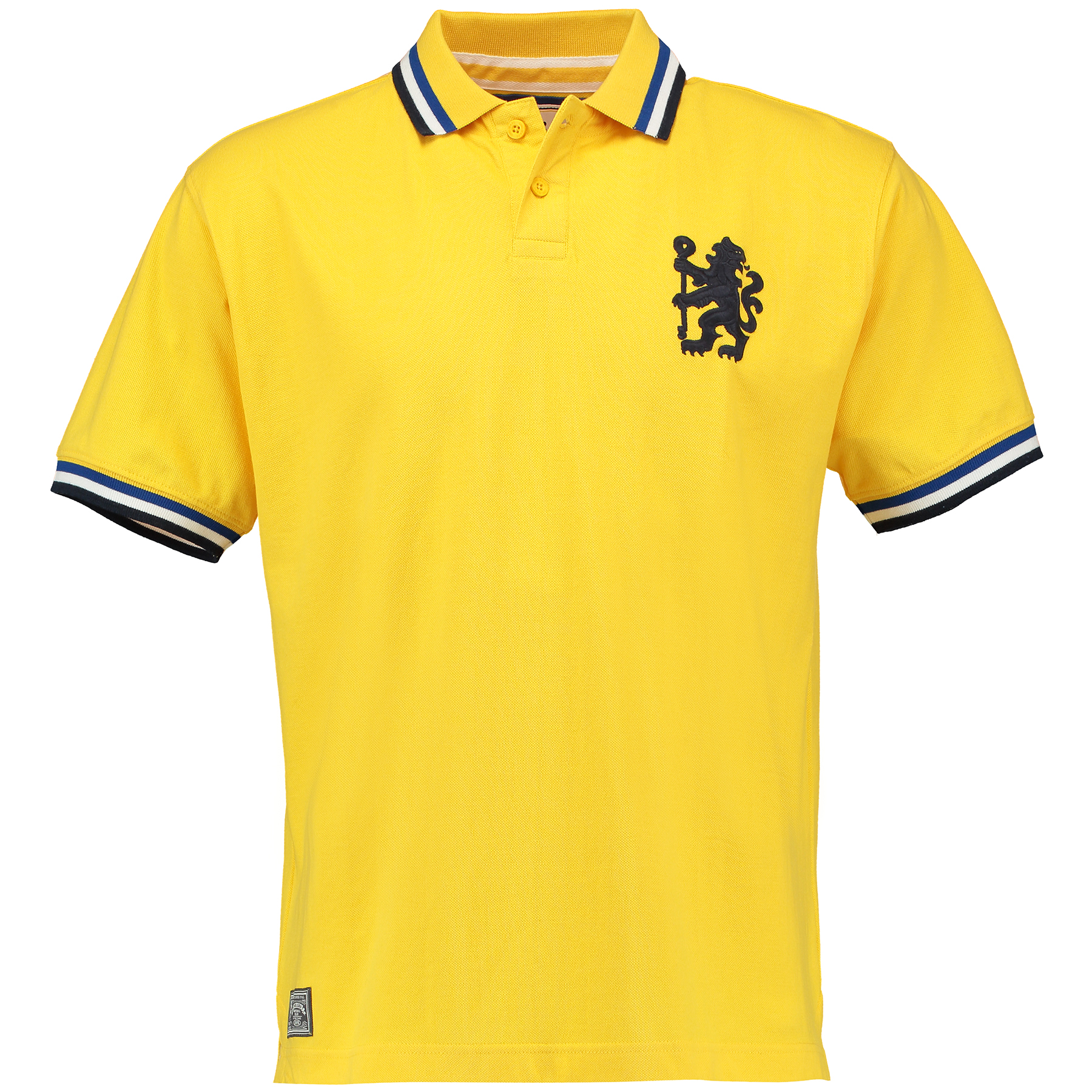 Chelsea Heritage Tipped Polo Shirt - Yellow - Mens