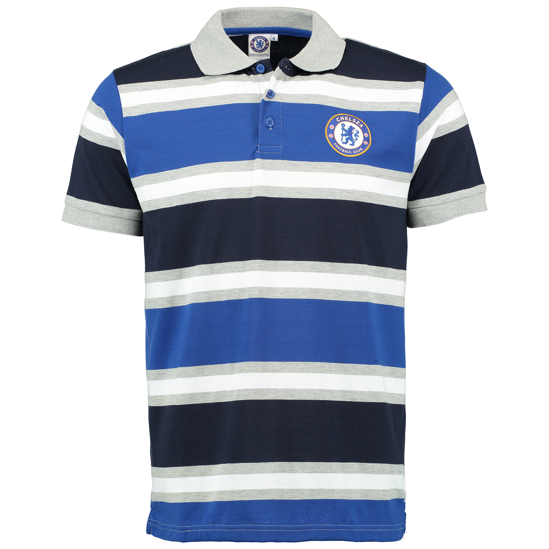 Chelsea Classic Stripe Polo Shirt - Grey Marl - Mens