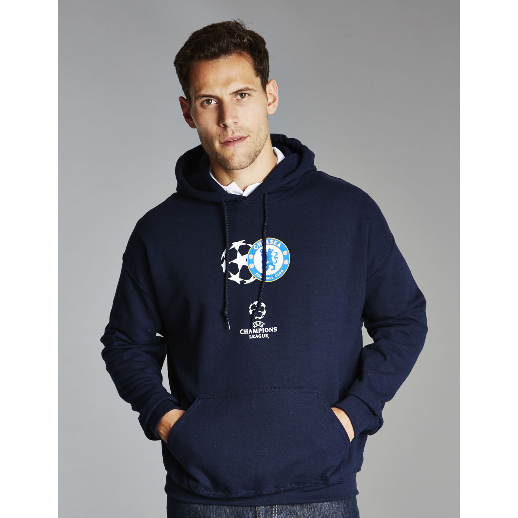 Chelsea UEFA Champions League Hoodie - Navy - Mens