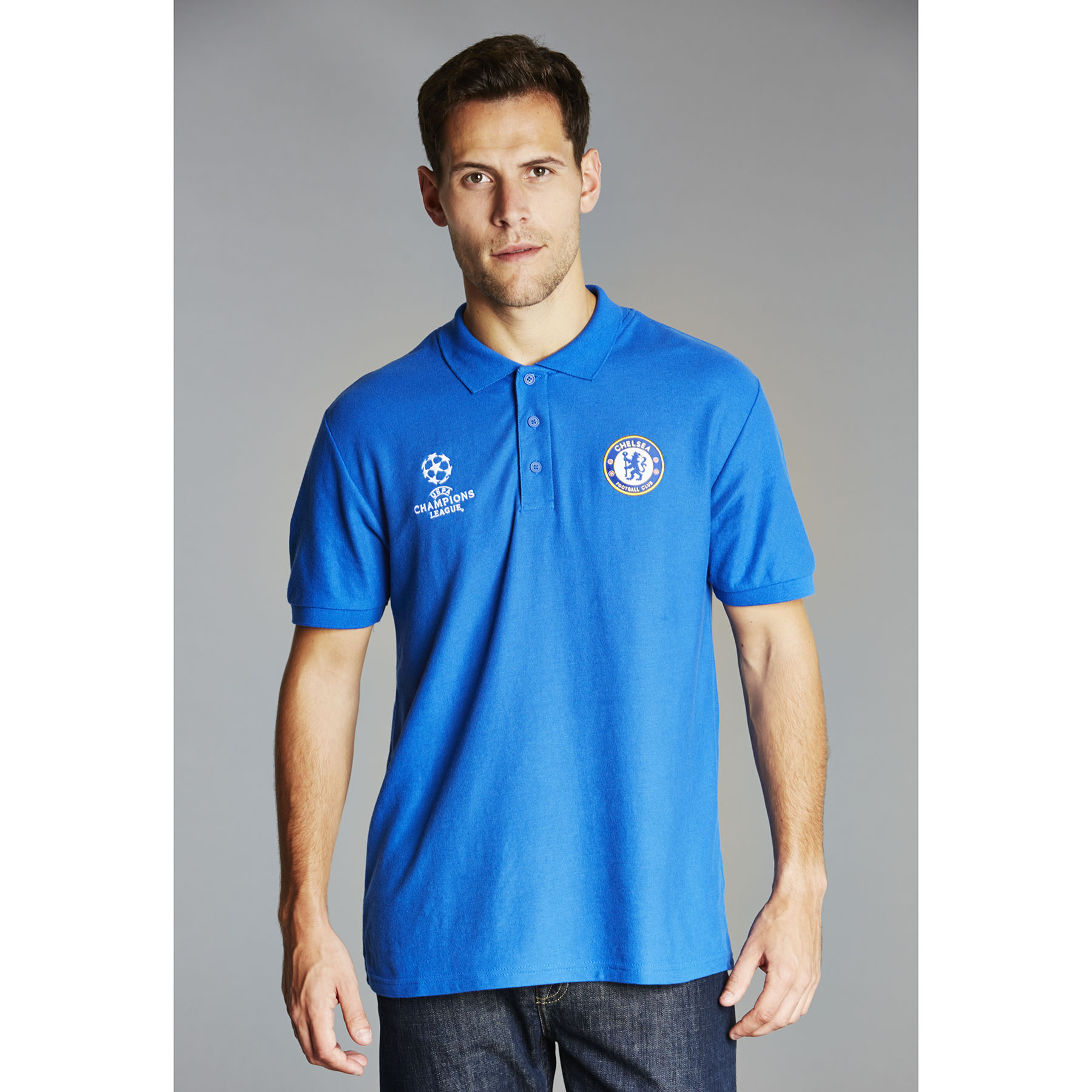 Chelsea UEFA Champions League Polo Shirt - Royal - Mens