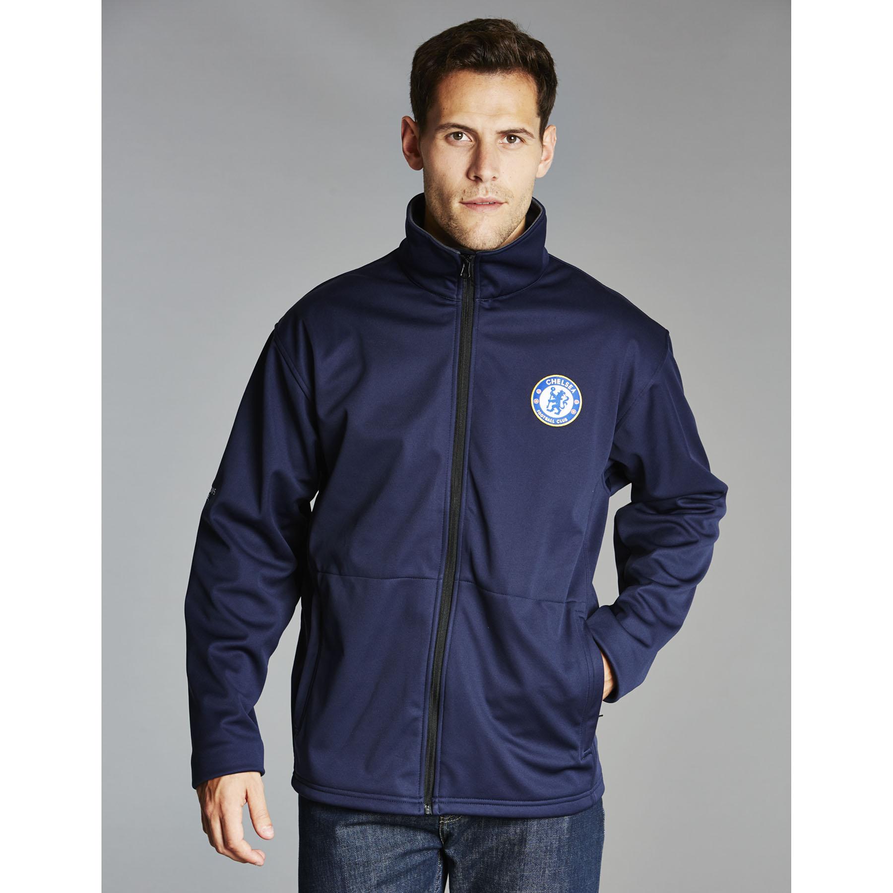 Chelsea UEFA Champions League Soft Shell Jacket - Navy - Mens
