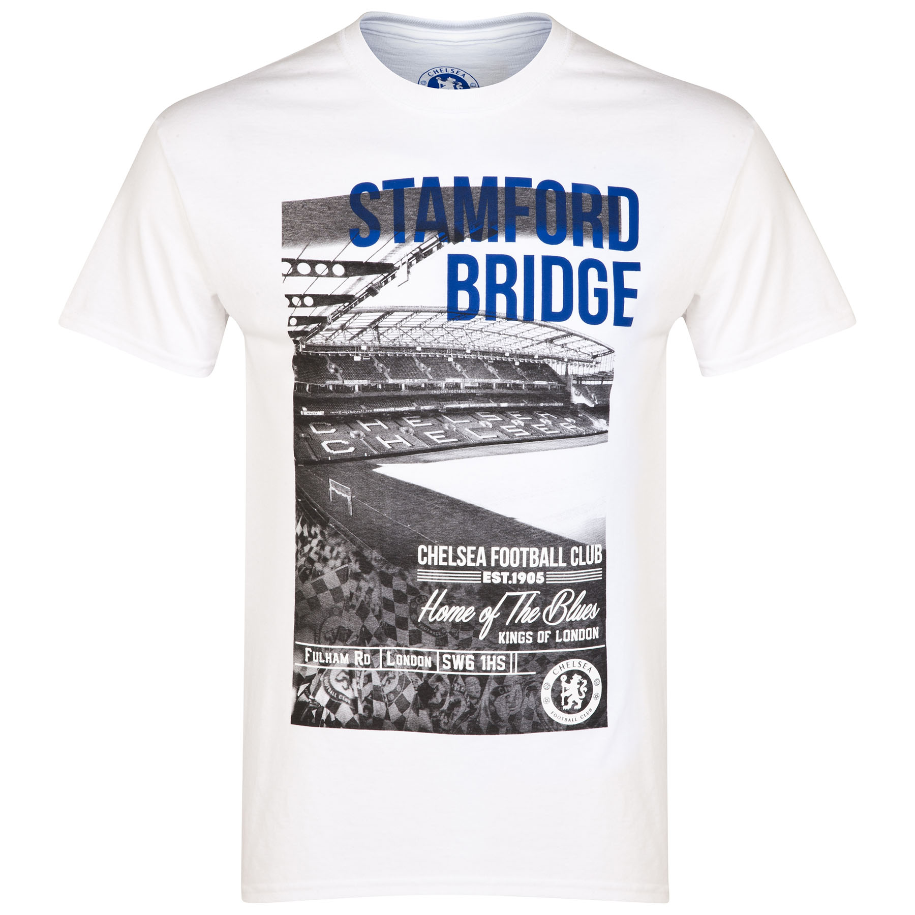 Chelsea Stadium Image T-Shirt - White - Mens