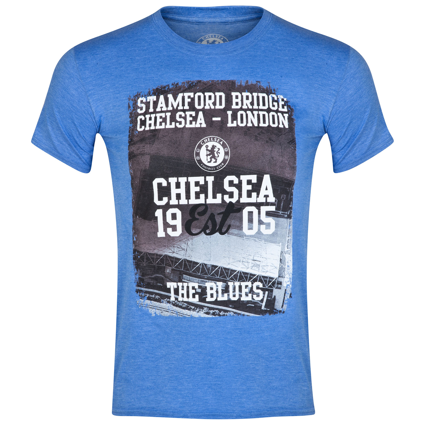 Chelsea Established T-Shirt - Heather Royal Mens