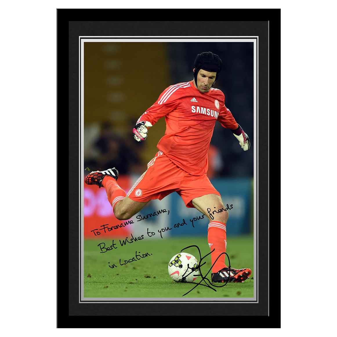 Chelsea Personalised Signature Photo Framed - Cech