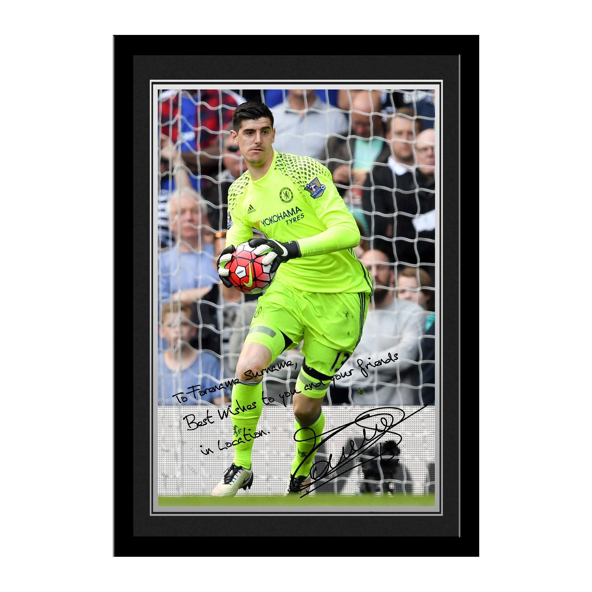 Chelsea Personalised Signature Photo Framed - Courtois