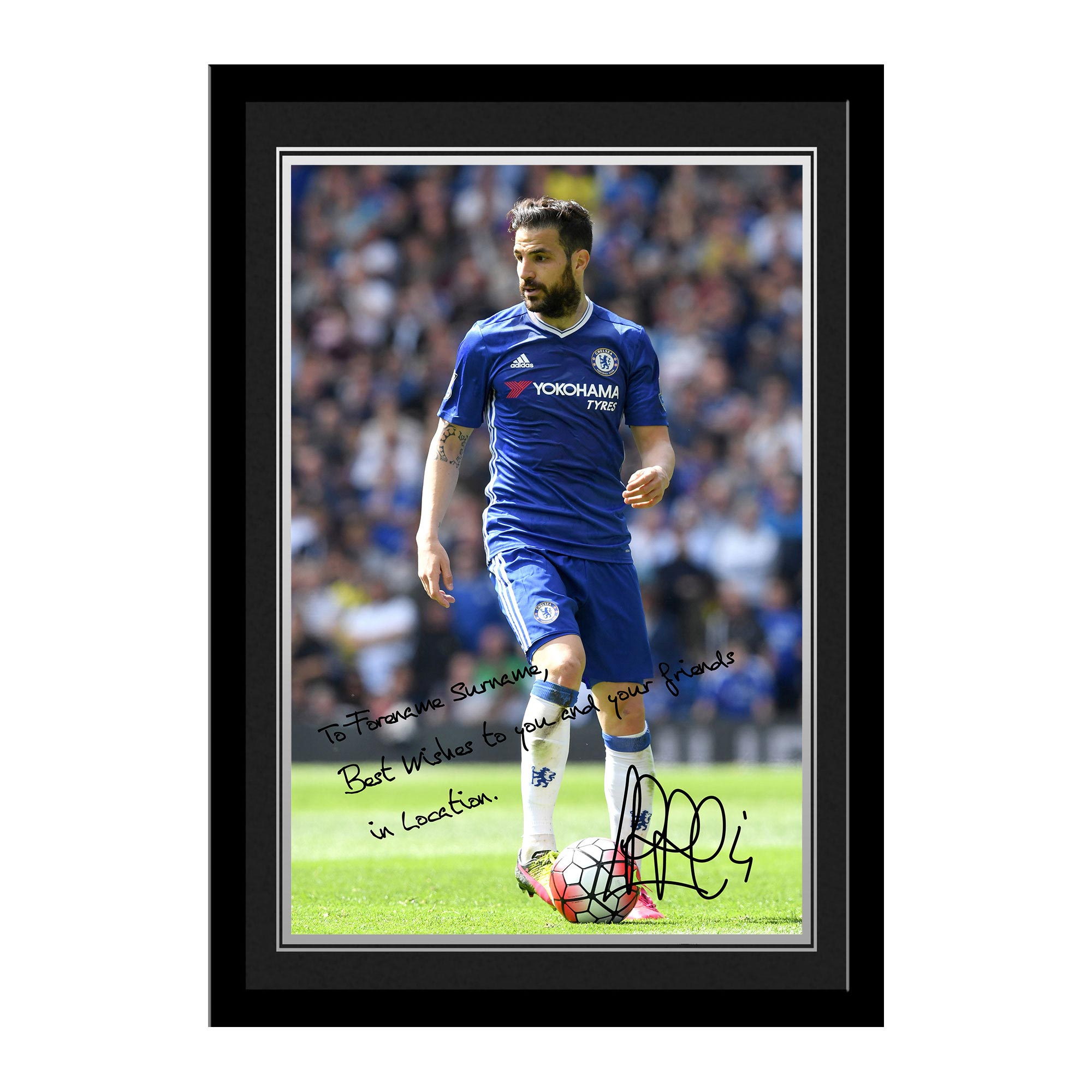 Chelsea Personalised Signature Photo Framed - Fabregas