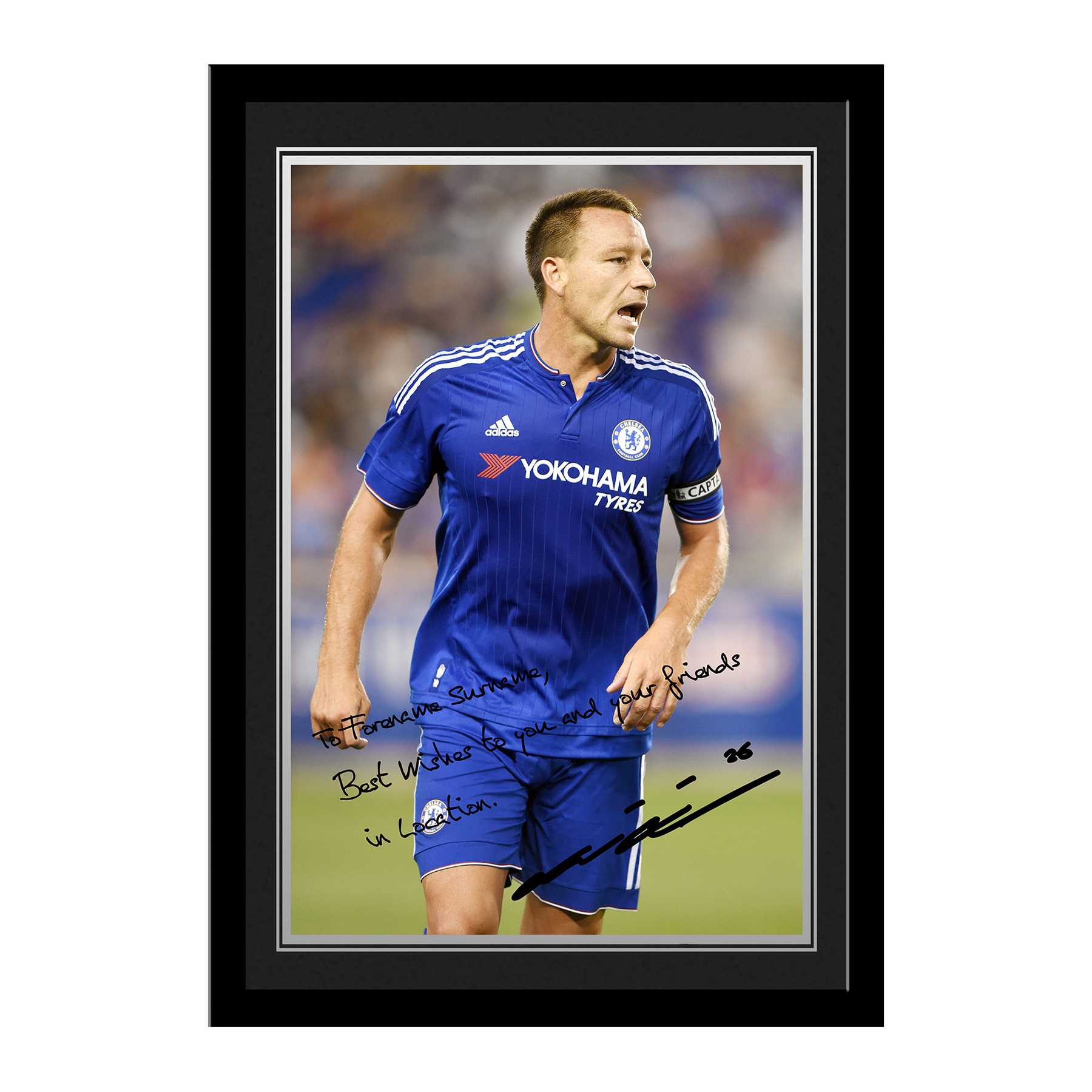 Chelsea Personalised Signature Photo Framed - Terry