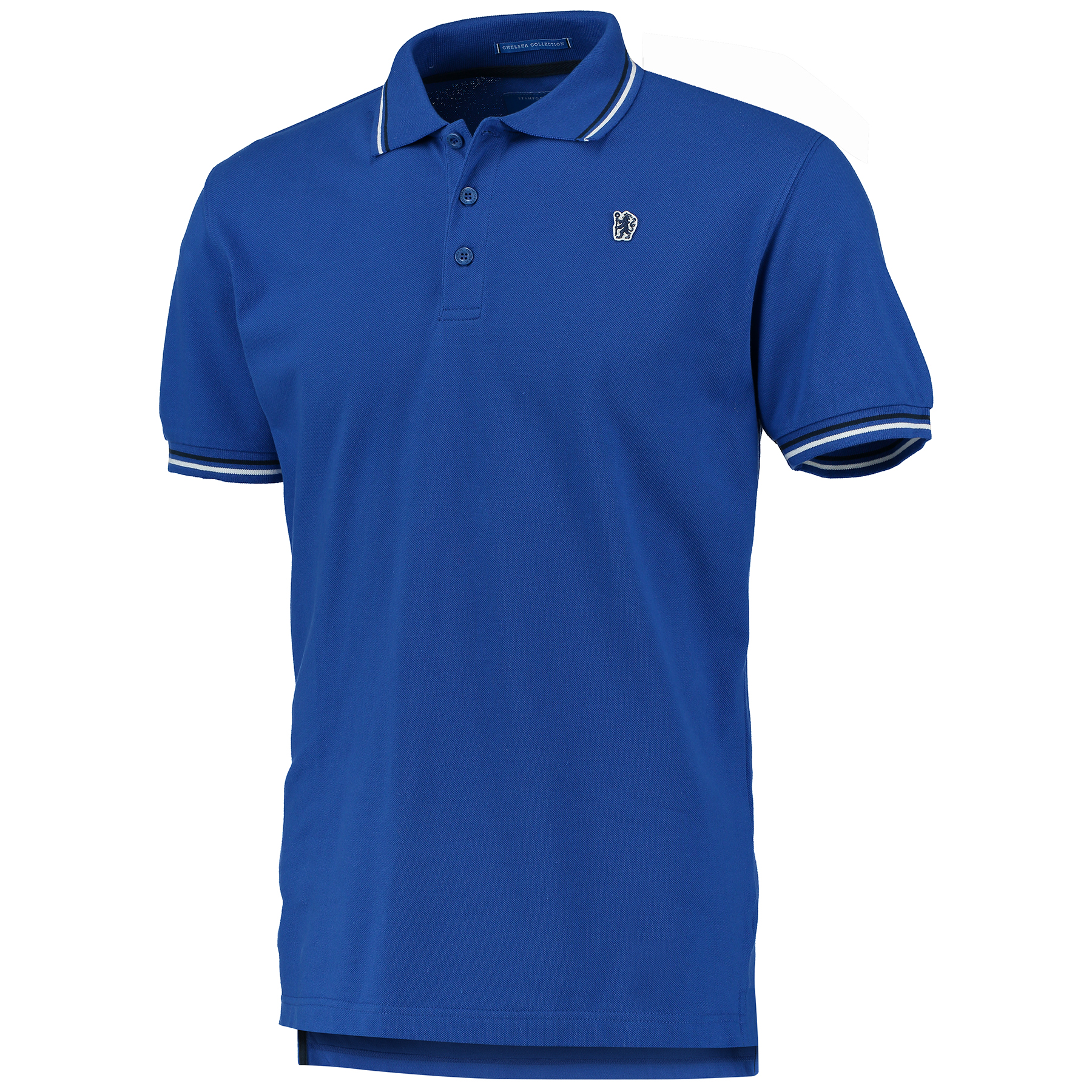 Chelsea Small Lion Polo Shirt - Royal - Mens   Woven lion badge. Tipped collar and cuffs. Woven back neck label. 3 x branded buttons. 100% Cotton Pique. Machine washable.