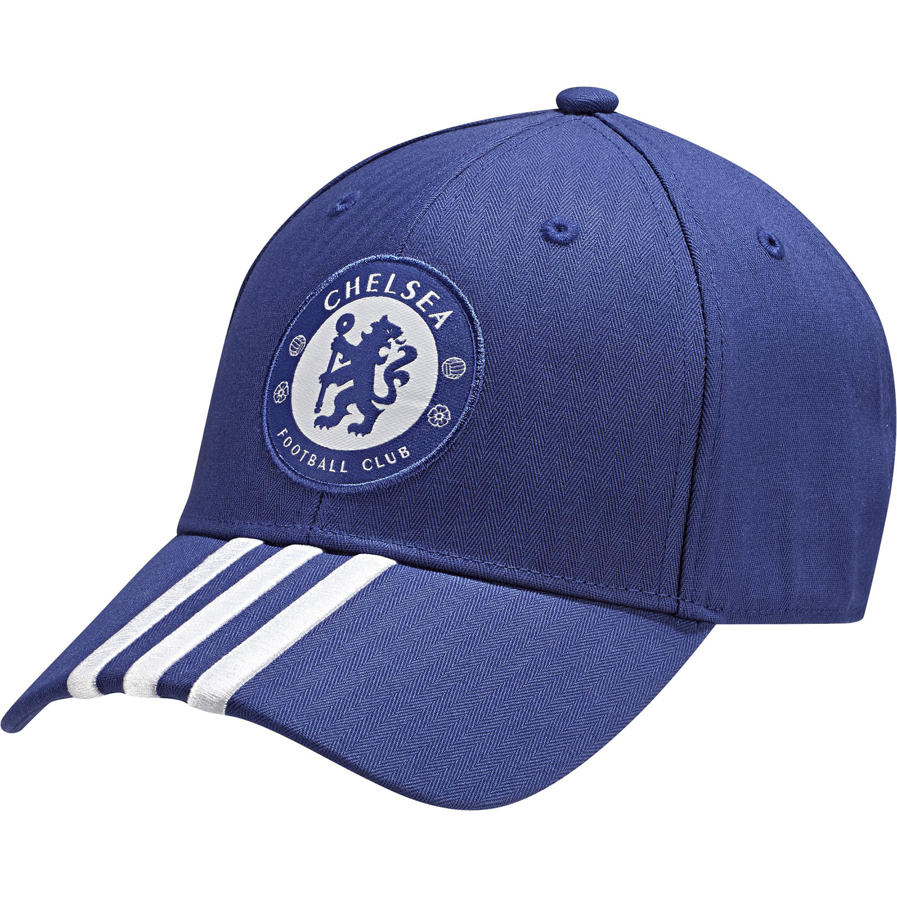 Chelsea 3 Stripe Cap Blue Celebrate your favourite team in style with this Chelsea 3 Stripe Cap.   With a woven club crest and embroidered three stripes, this Chelsea cap is the ideal choice for a fan.   Benefits: Woven club crest Embroidered 3 stripes Embroidered Performance logo Buckle with club crest Integrated design 100% Cotton