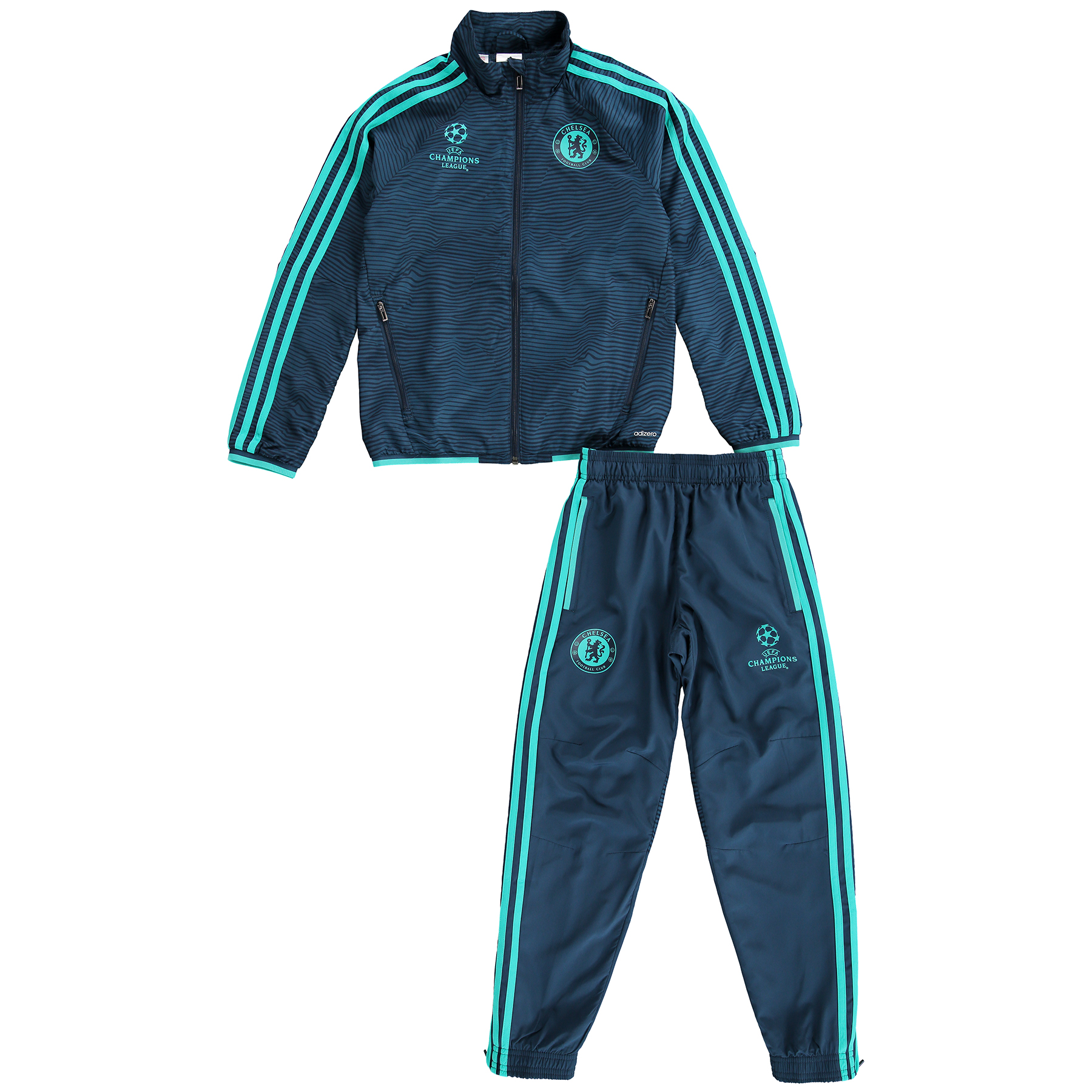 Chelsea UCL Training Presesntation Suit  Kids Blue
