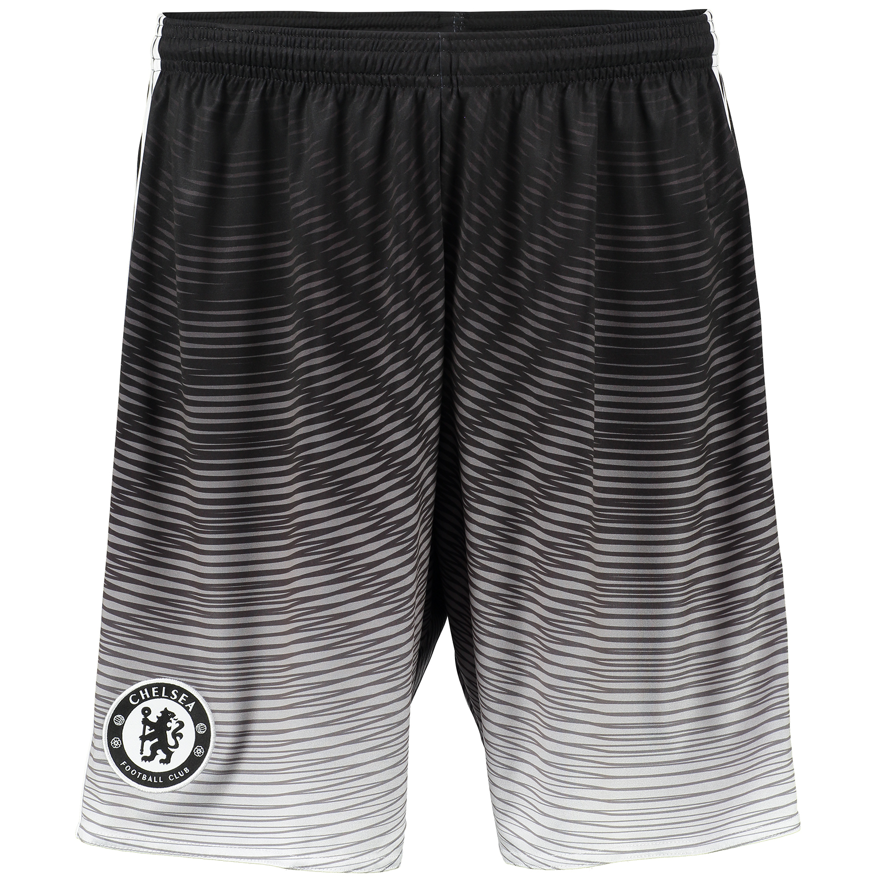 Chelsea Third Shorts 2015/16 - Kids Black   The Blues have the physicality, mentality and skill set at both ends of the pitch that make them almost impossible to bring down. These kid's football shorts are a version of the ones from their third kit.   Featuring breathable climacool® ventilation and the team badge above the hem, you can enjoy total comfort and pride when you wear these Chelsea Third Shorts.   Benefits: 18.5 cm inseam (size 50) Climalite® fabric sweeps sweat away from your skin Drawcord on elastic waist; Fingerprint-inspired embossing; Chelsea Football Club woven badge above right hem 100% recycled polyester interlock. CFC 3rd Kit The fingerprint story told through a bold and modern graphic on the shorts and mirrored with an embossing on the shirt. The fingerprint label adds value and contributes further to the story Club crest: woven badge The fingerprint represents the identity of all Chelsea fans climalite® Soft, lightweight fabric for superior moisture management Without inner mesh brief Bold fingerprint inspired graphic 100% rec.Polyester   adidas sustainable product program This product is part of the adidas sustainable product program: Products are made in more sustainable ways to make the world a better placeEvery fibre counts: Recycled polyester saves resources and decreases emissions