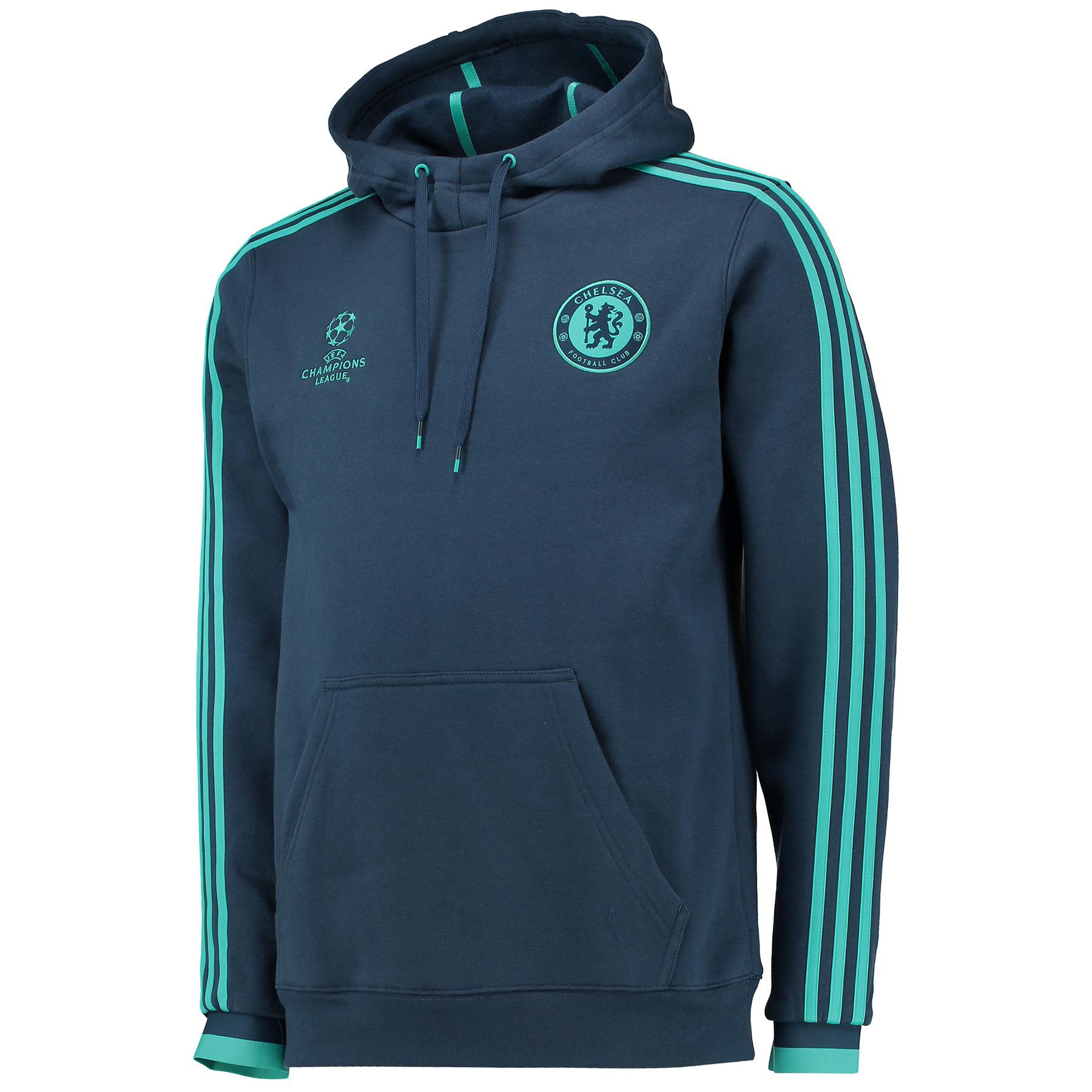 Chelsea UCL Training Hooded Sweatshirt Blue