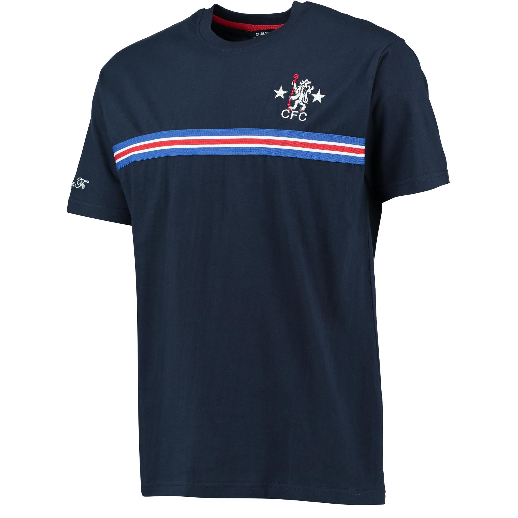 Chelsea Retro Tape T-Shirt - Navy - Mens