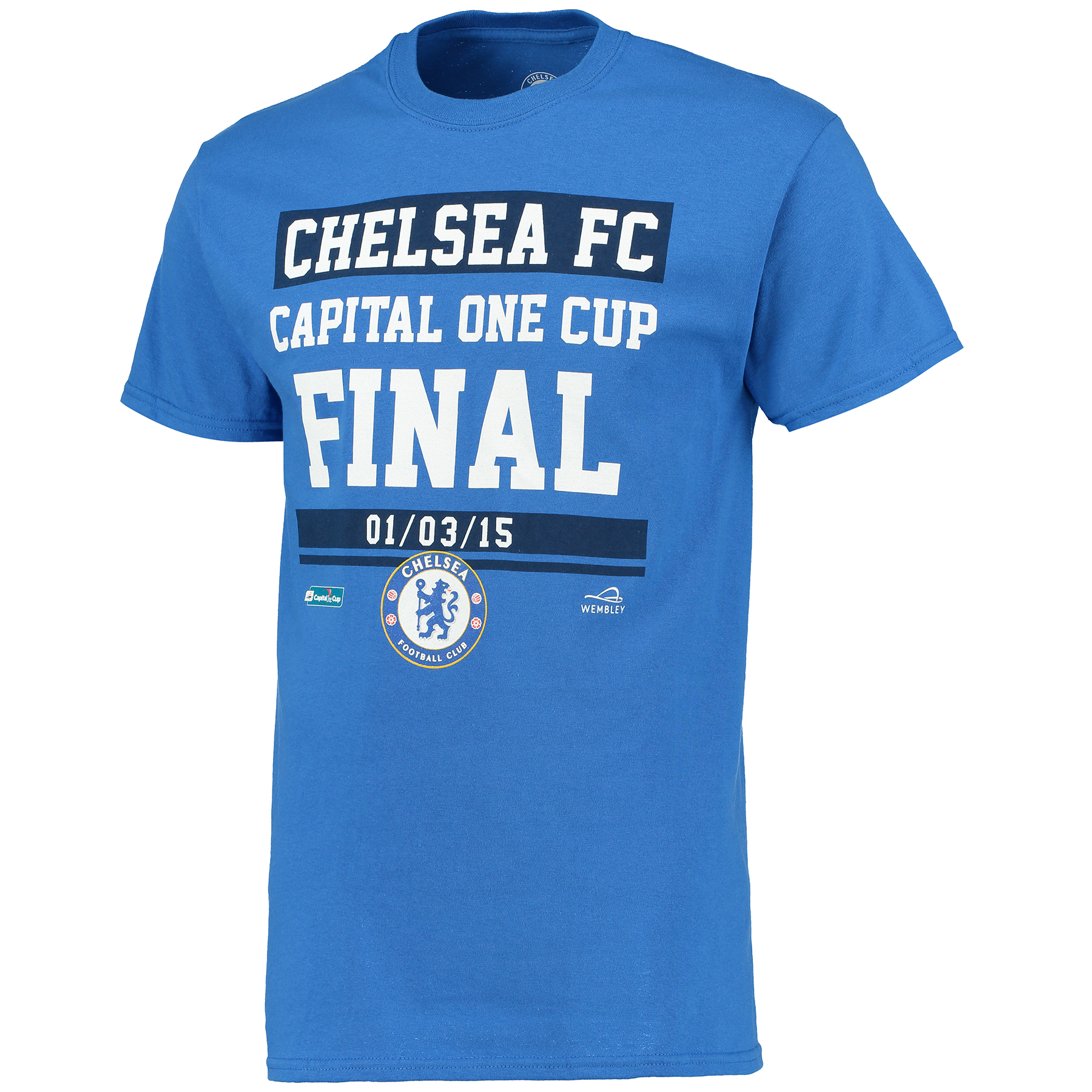 Chelsea Capital One Cup Road To Wembley T-Shirt - Royal - Mens