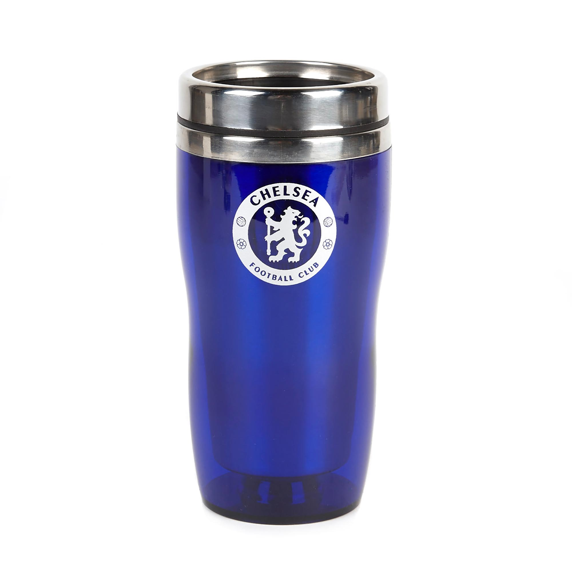 Chelsea Executive Travel Mug Capacity 450ml. Complete with Stainless Steel inner. Suitable for both hot and cold beverages.
