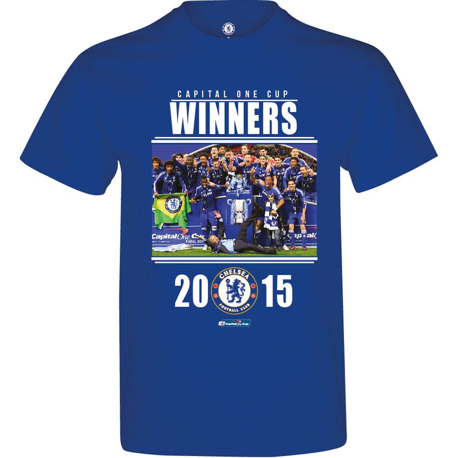 Chelsea Capital One Cup Winners T-Shirt - Royal - Mens