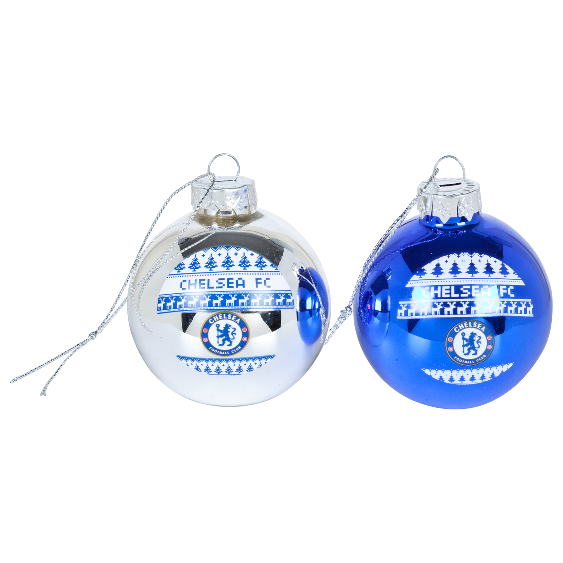 Chelsea Christmas Nordic Baubles - 2 Pack