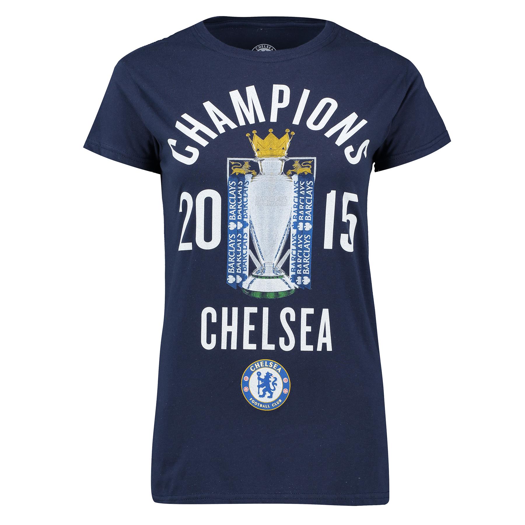 Chelsea 2014/15 Barclays Premier League Champions T-Shirt - Navy - Wom