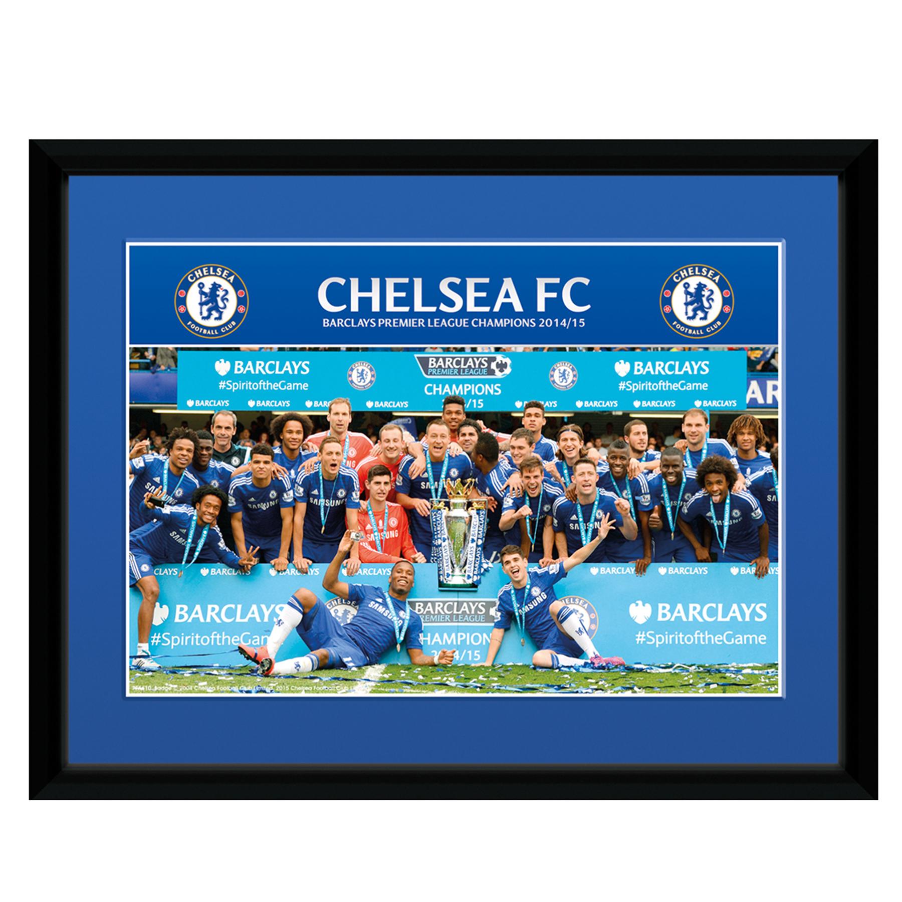 Chelsea 2014/15 Premier League Winners Celebration Framed Print - 8 x