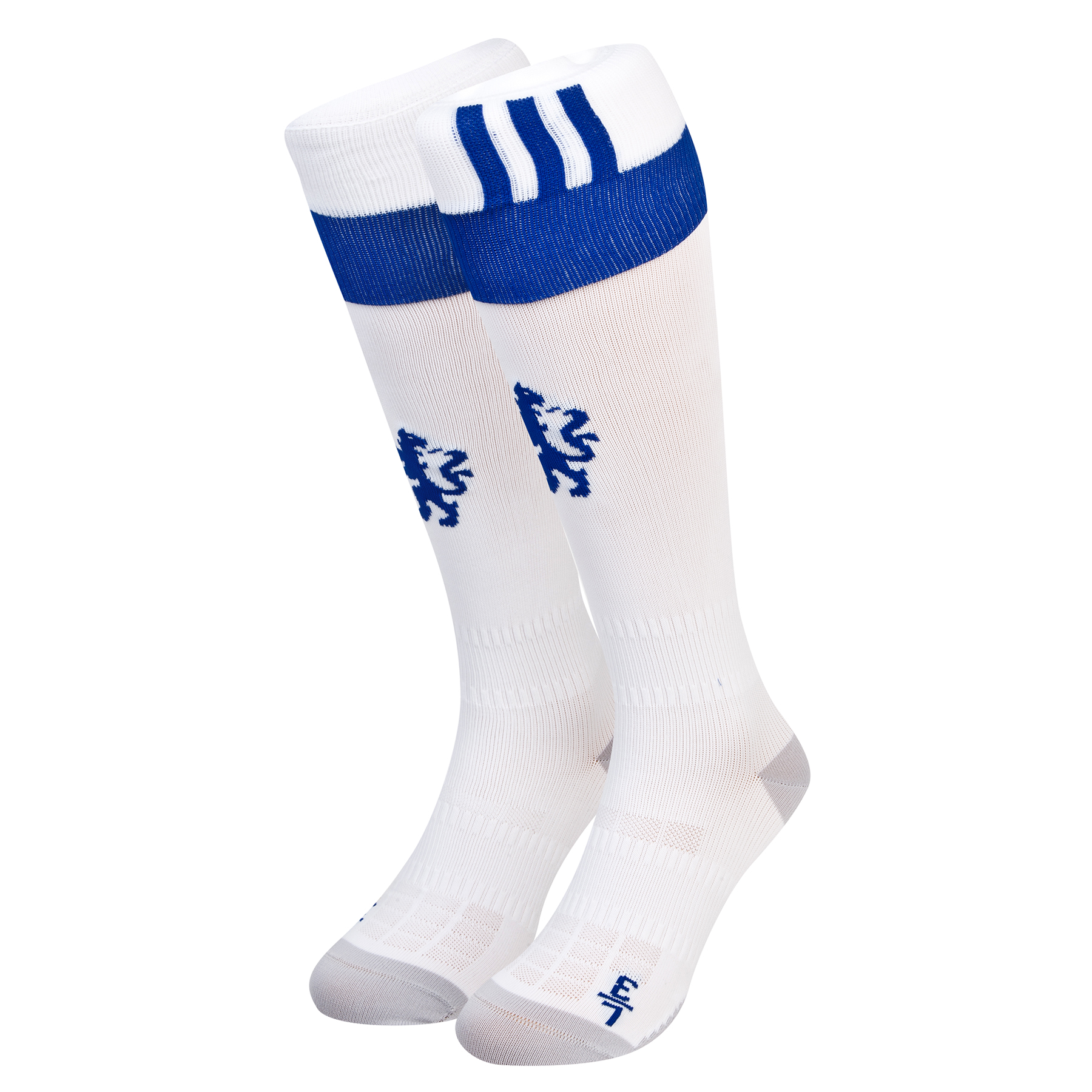 Chelsea Home/3rd Socks 2016-17   Complete your professional Chelsea home/third kit look with the official Chelsea Home/3rd Socks 2016-17.   With anatomically-placed cushioning to support and protect those high stress areas, these 2016-17 Chelsea home/third socks benefit further from mesh ventilation inserts.   Benefits:   Official Chelsea 2016-17 home/3rd socks Socks with anatomically-placed cushioning Left/right sock with mesh ventilation inserts 67% polyester/29% polyamide/4% elasthane