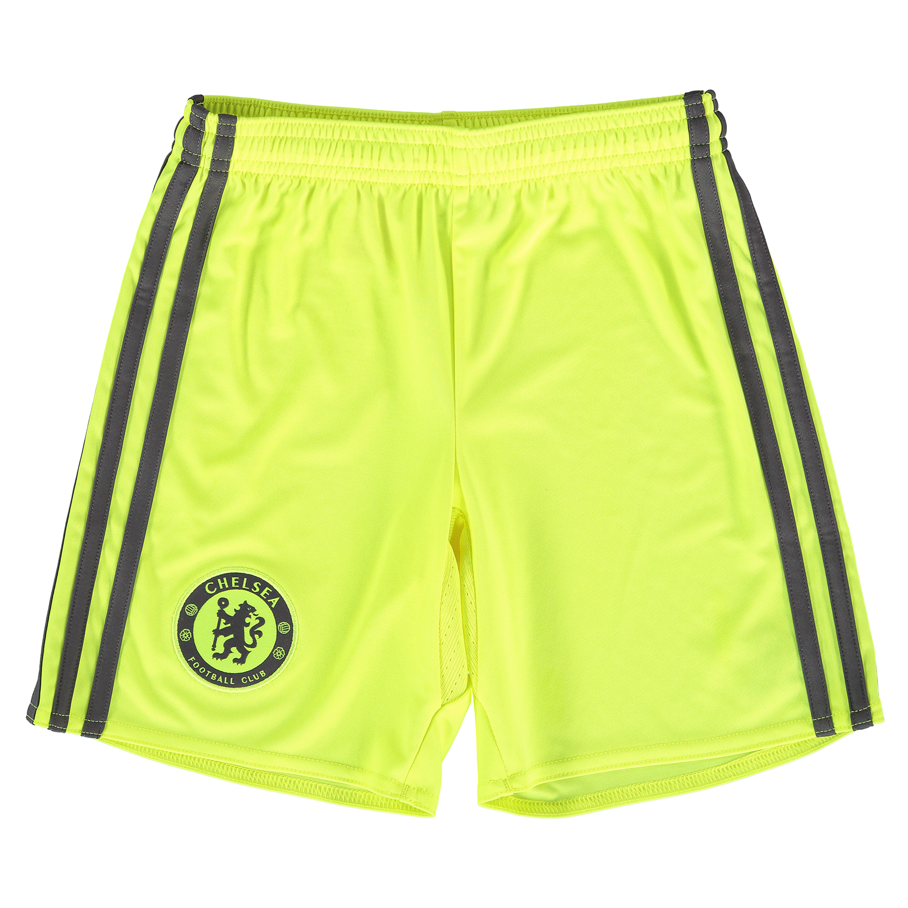 Chelsea Goalkeeper Shorts 16-17 - Kids   Build a professional matchday image worthy of a Stamford Bridge shot stopper with these official Chelsea Goalkeeper Shorts 16-17 - Kids.   With the club represented in woven crest form, advanced Climacool® heat and moisture management helps ensure the kind of cool composure required by a young Chelsea #1, with these 2016-17 Chelsea kids' goalkeeper shorts a perfect match for the club's solar yellow and granite goalkeeping jersey.   Benefits:   Climacool® heat and moisture management Club crest: woven badge 100% recycled polyester