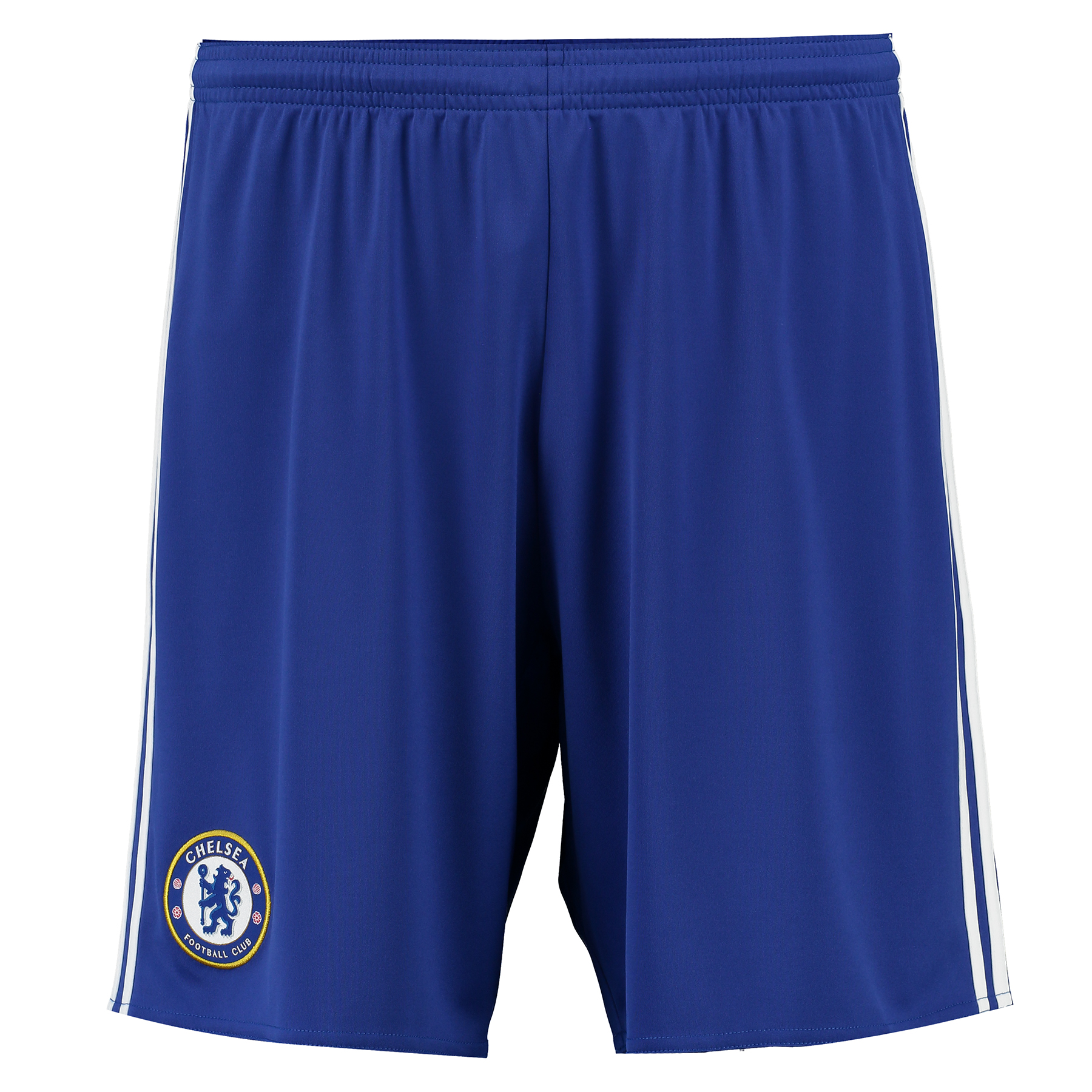 Chelsea Home Shorts 2016-17   Enhance your professional matchday image with the Chelsea Home Shorts 2016-17, official kit to accompany the pride of London's newest home jersey.   With the Chelsea club crest featured in woven form, these 2016-17 Chelsea home shorts reap the benefits of advanced Climacool® heat and moisture management technology, ensuring a cool and comfortable experience for Blues fans seeking to replicate their Stamford Bridge heroes.   Benefits:   Official Chelsea 2016-17 home shorts Climacool® heat and moisture management Woven Chelsea Football Club crest 100% recycled polyester