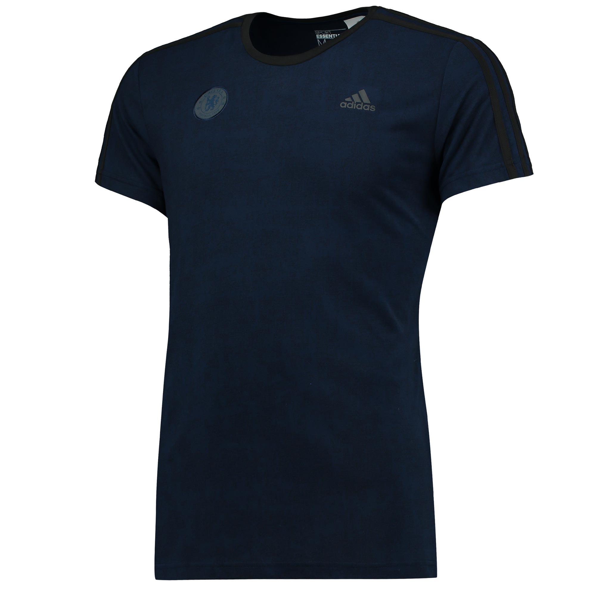 Chelsea Essentials 3 Stripe T-Shirt - Navy