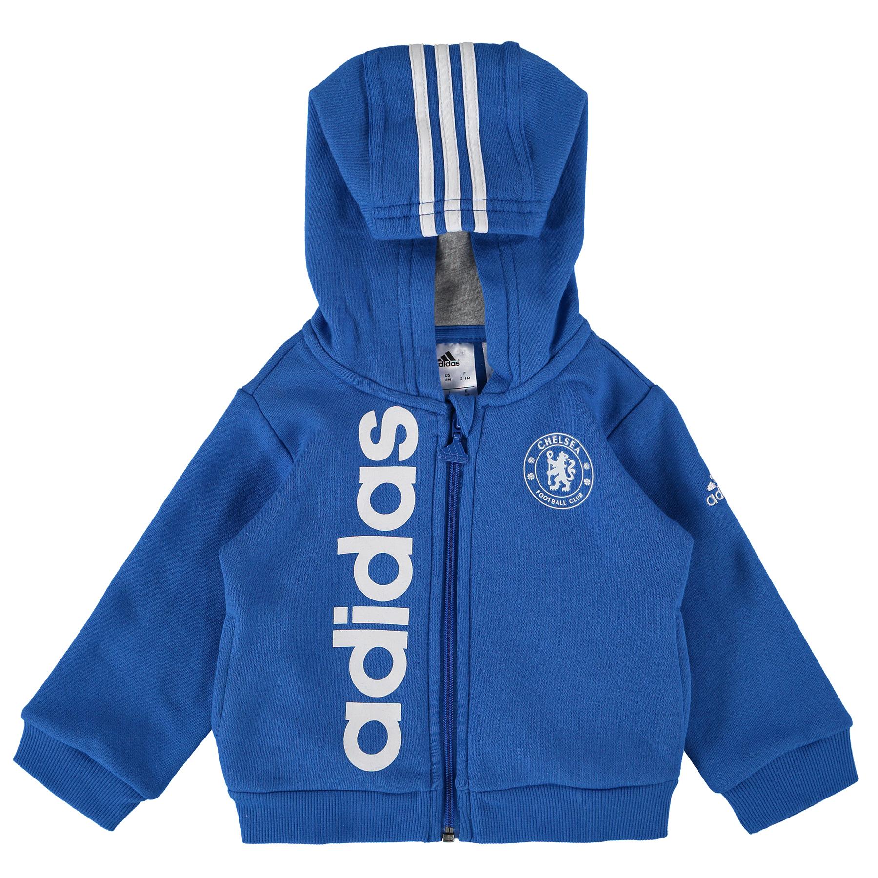 Chelsea Full Zip Hooded Baby Jogsuit - Boys - Blue-Grey