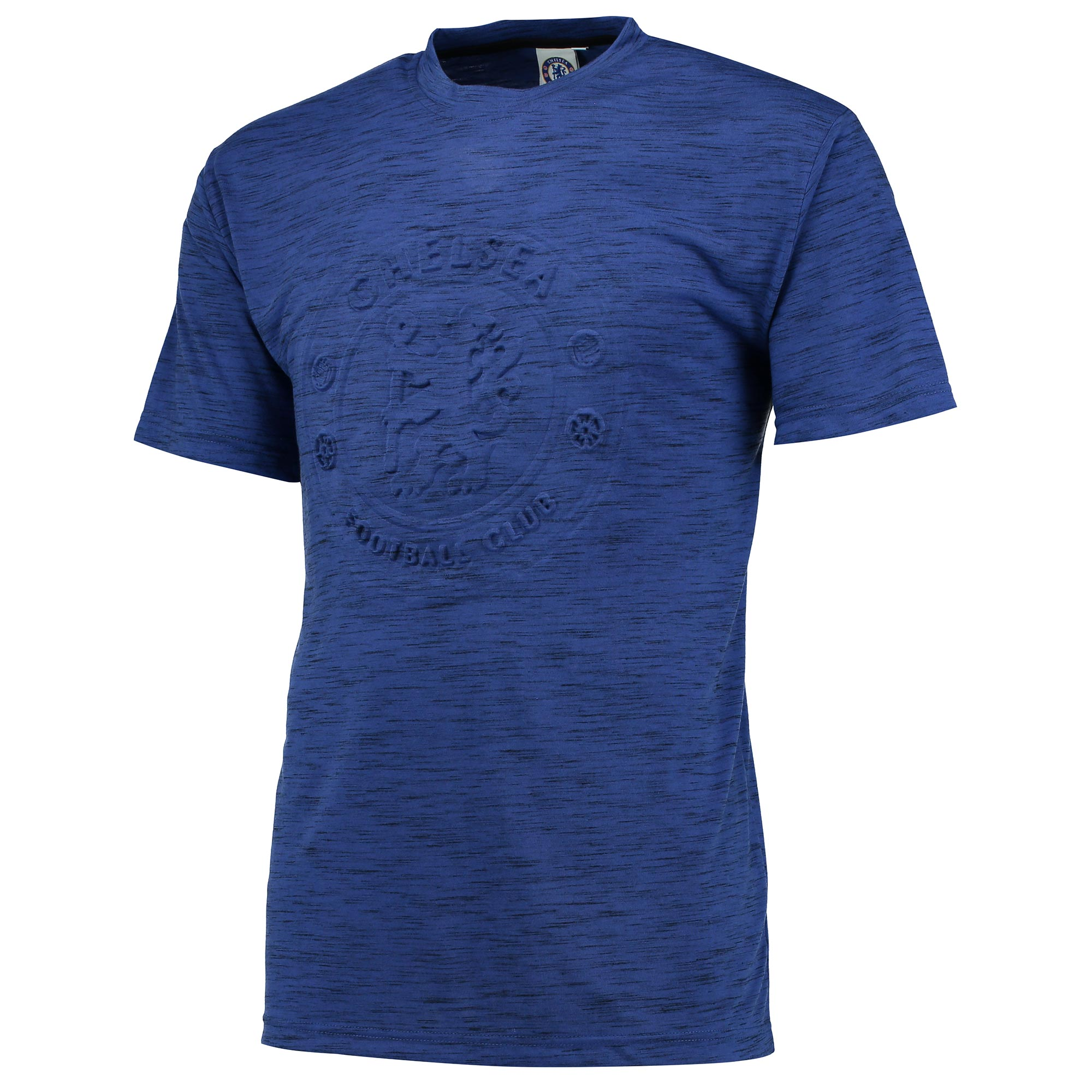 Chelsea Essential Embossed T-Shirt - Royal/Black Marl- Mens