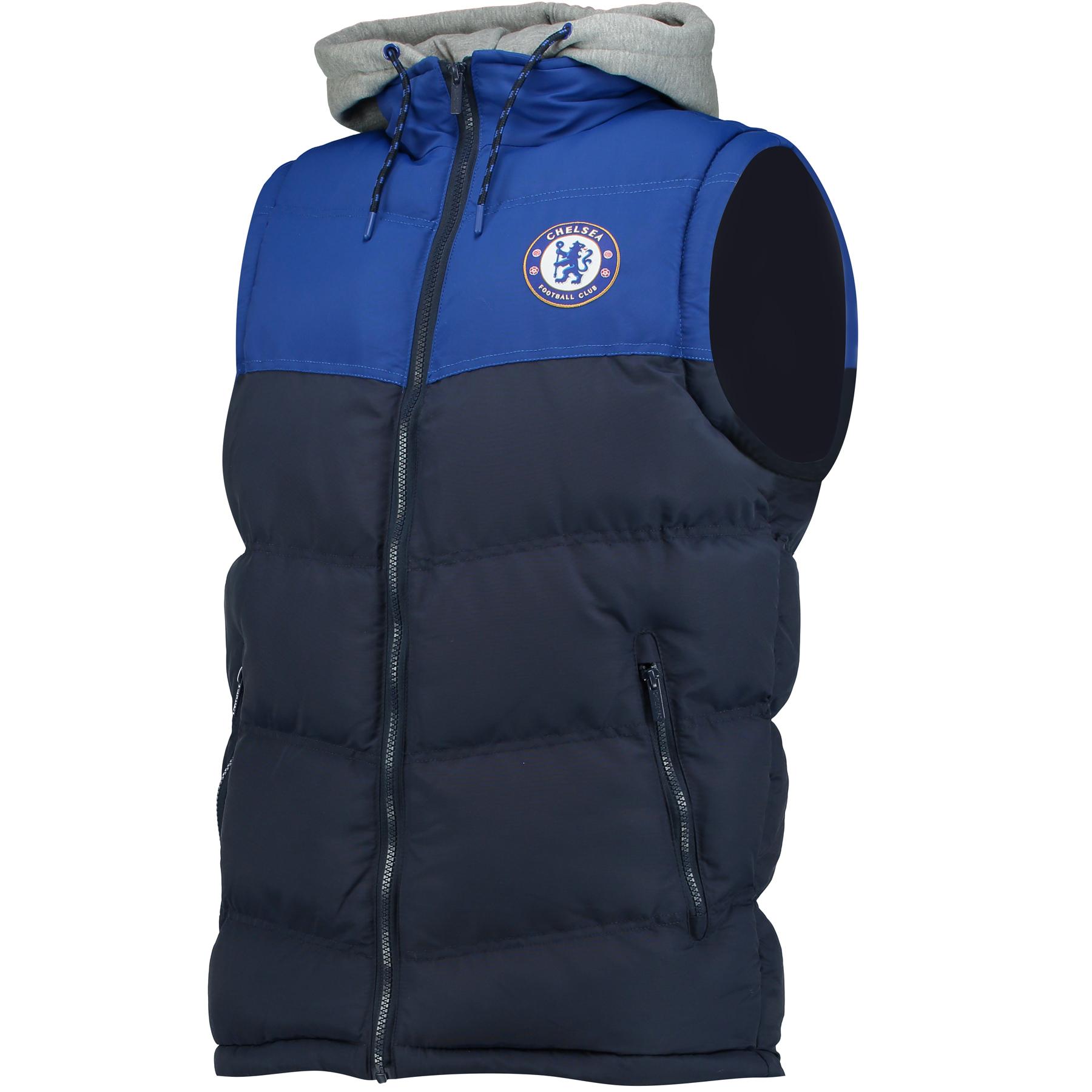 Image of Chelsea Essential Hooded Gilet - Navy - Mens, Navy