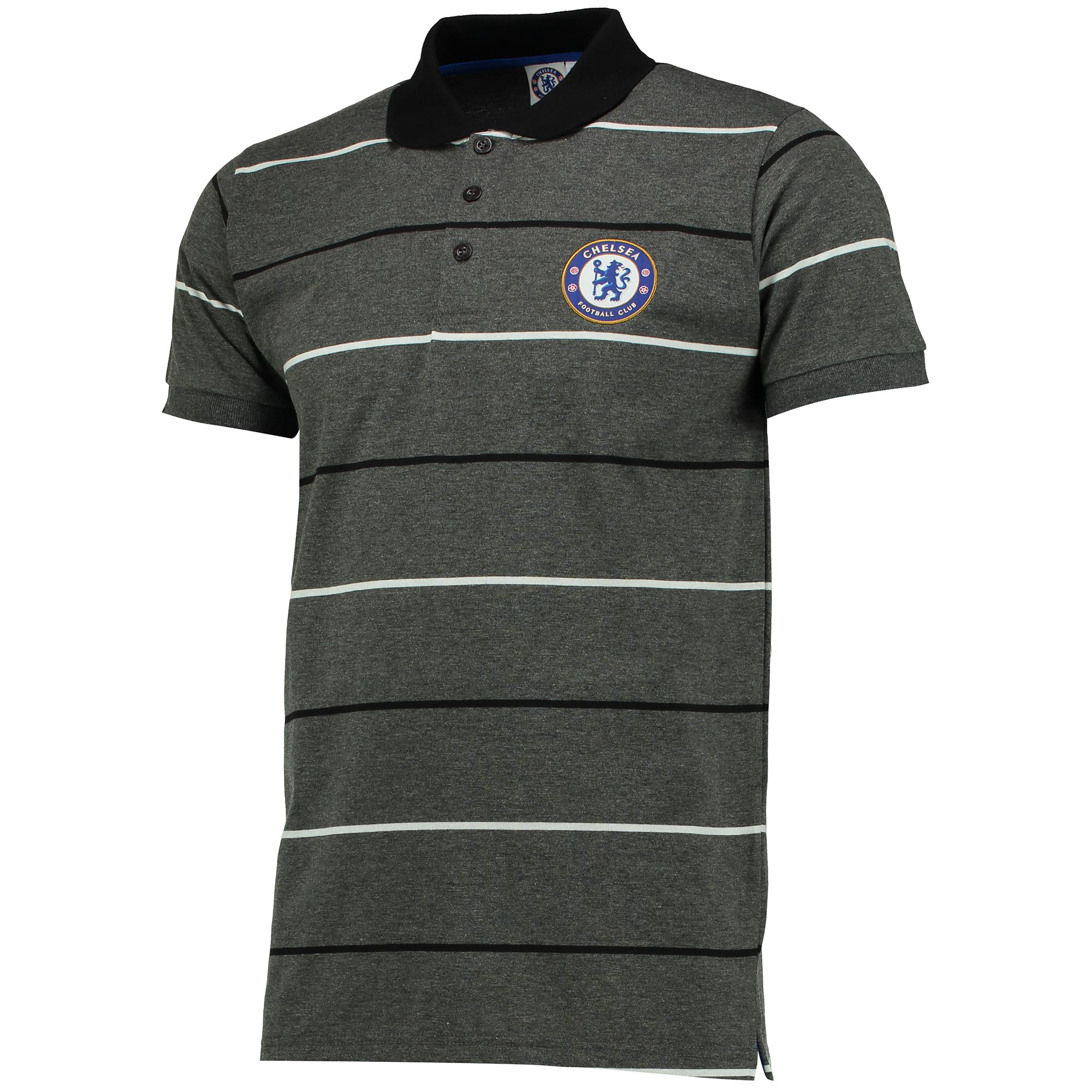Chelsea Essential Stripe Polo Shirt - Charcoal Marl - Mens