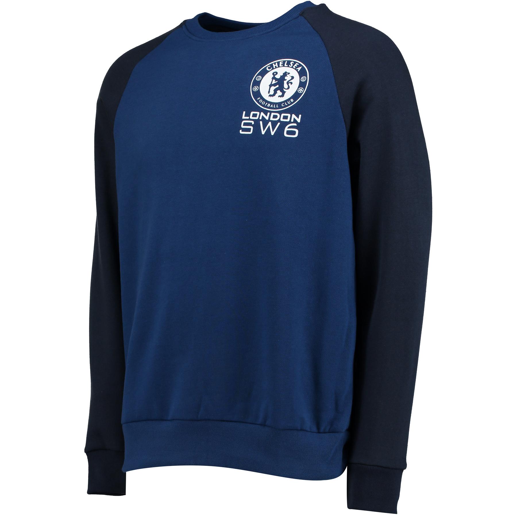 Chelsea Essential Crew Neck Sweater - Estate Blue - Mens
